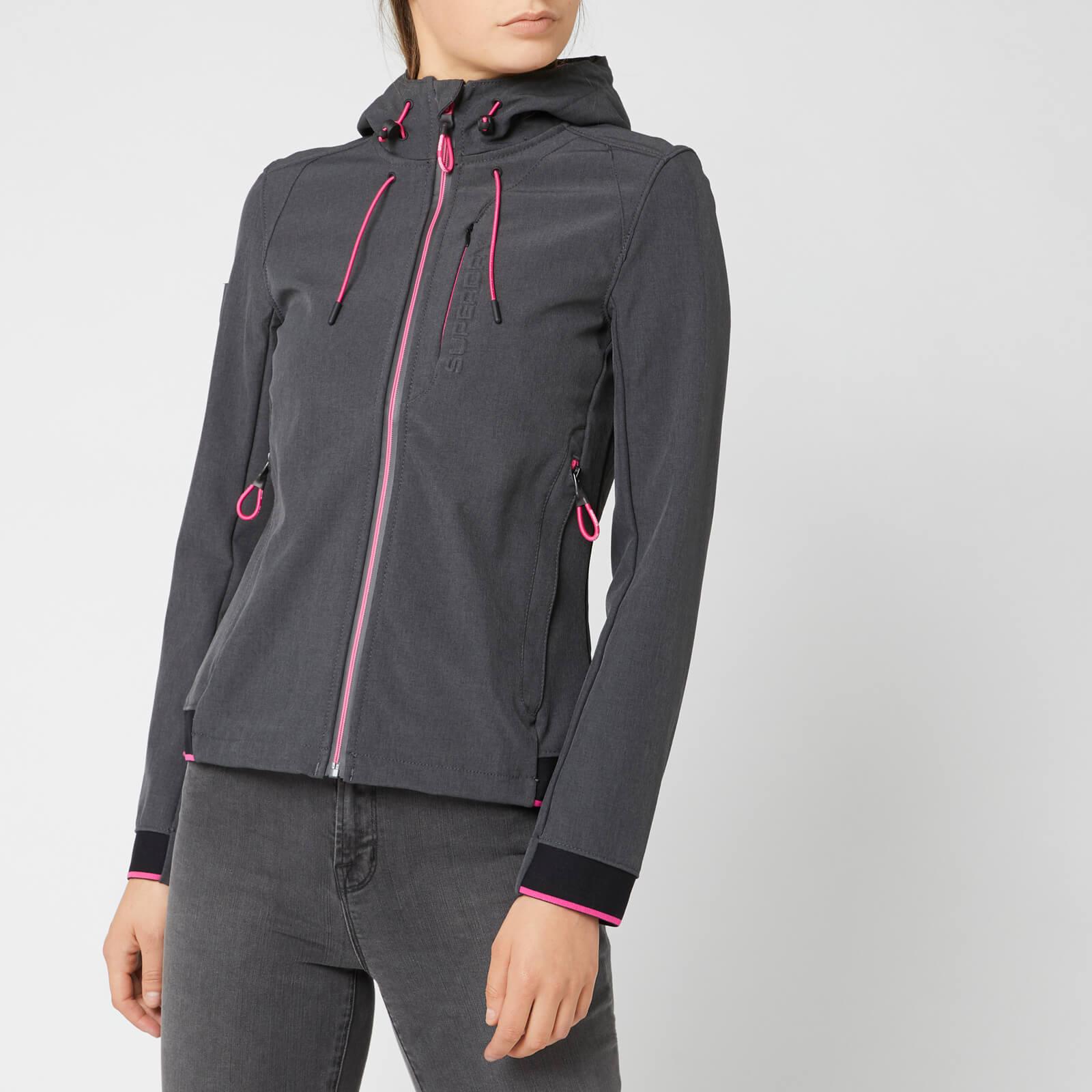 online shop professional design super specials Superdry Women's Nu Hooded Sd-Windtrekker - Dark Charcoal/Fluro Cherry
