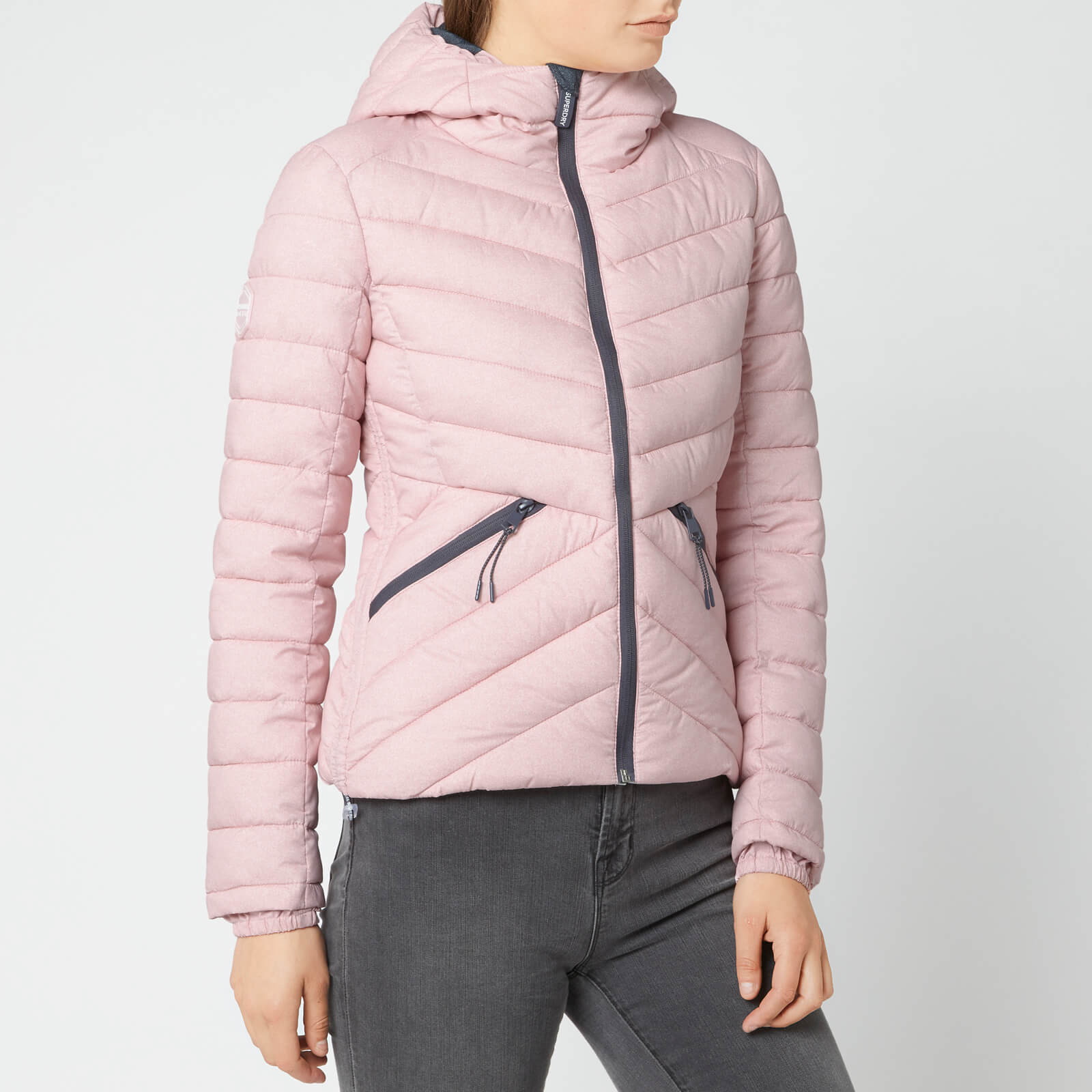 Superdry Women's Helio Fuji Hooded Jacket - Pink Marl
