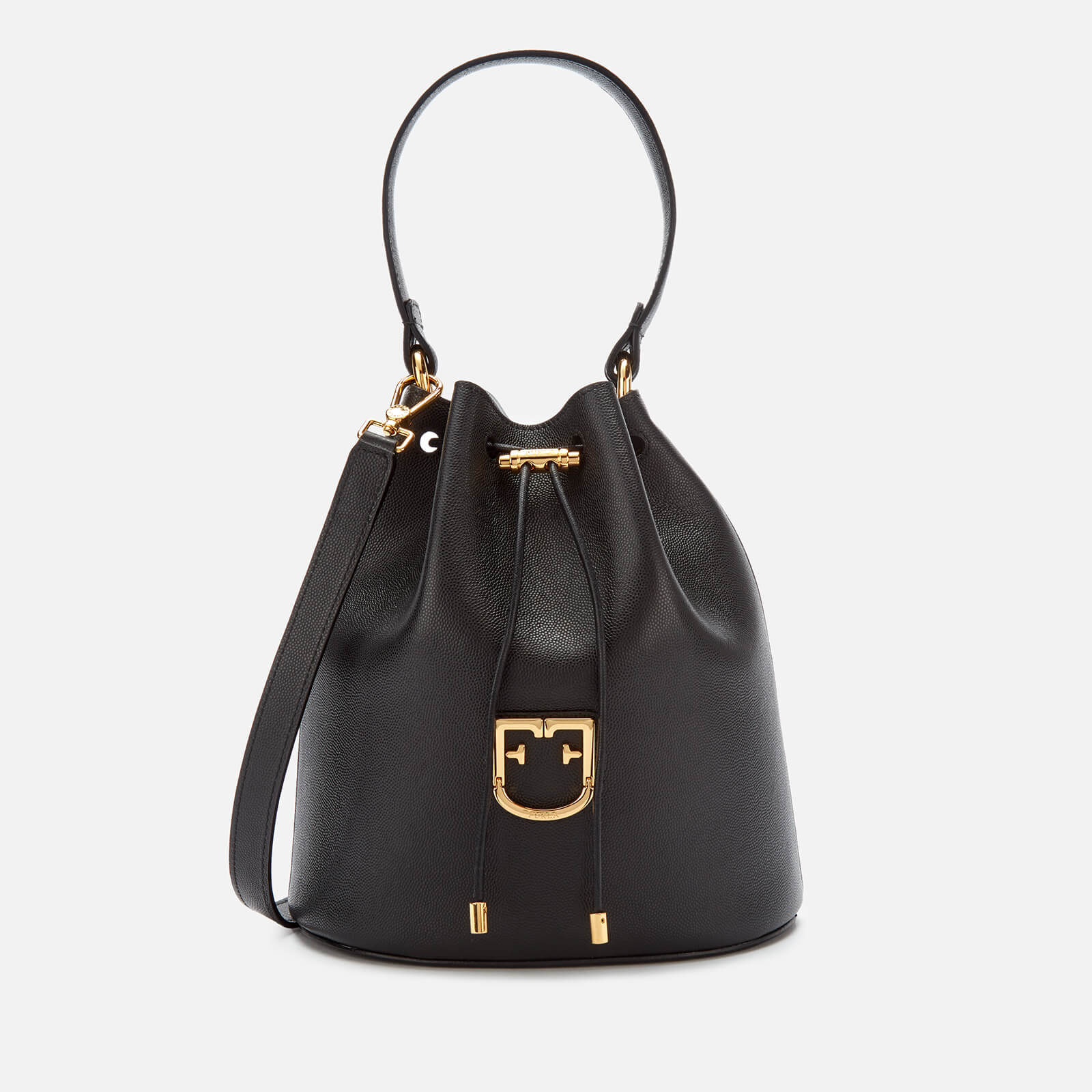Furla Women's Corona S Drawstring Bag - Onyx
