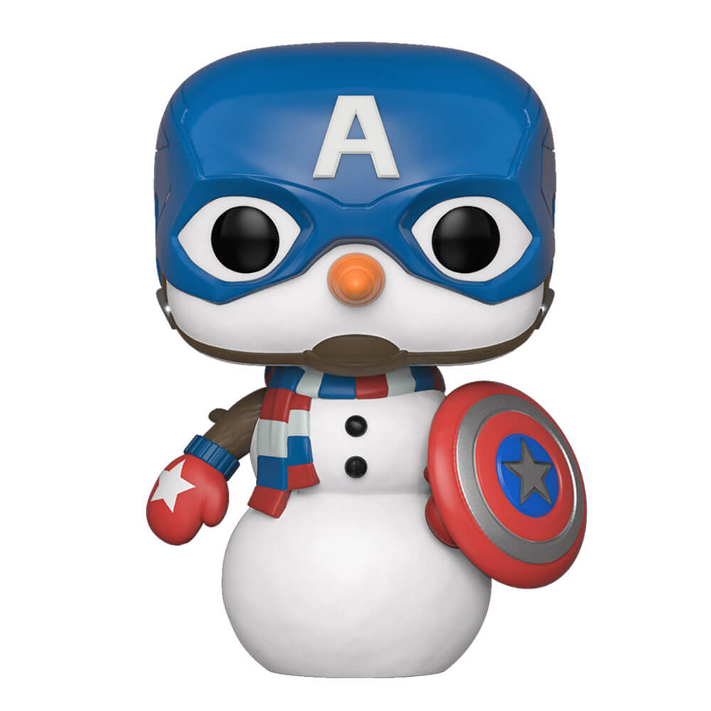 Marvel Holiday - Capitan America Natalizio Figura Pop! Vinyl   Pop In A Box  Italia