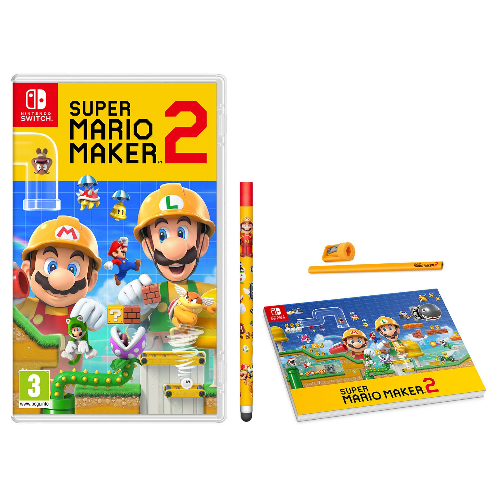 Super Mario Maker 2 Pack Pad And Pencil