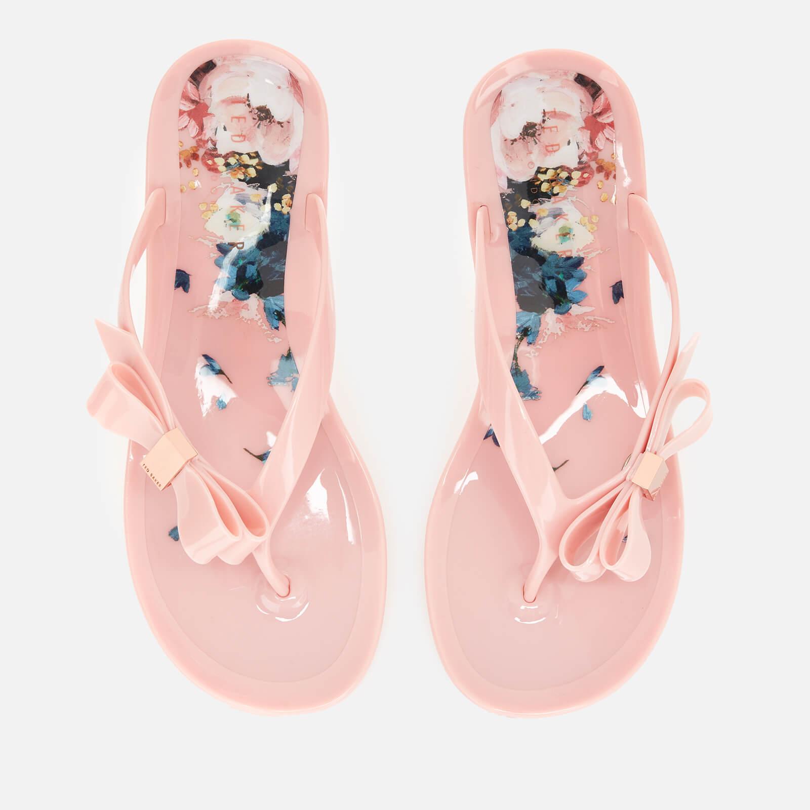 Ted Baker Women's Suzzip Bow Flip Flops Light Pink