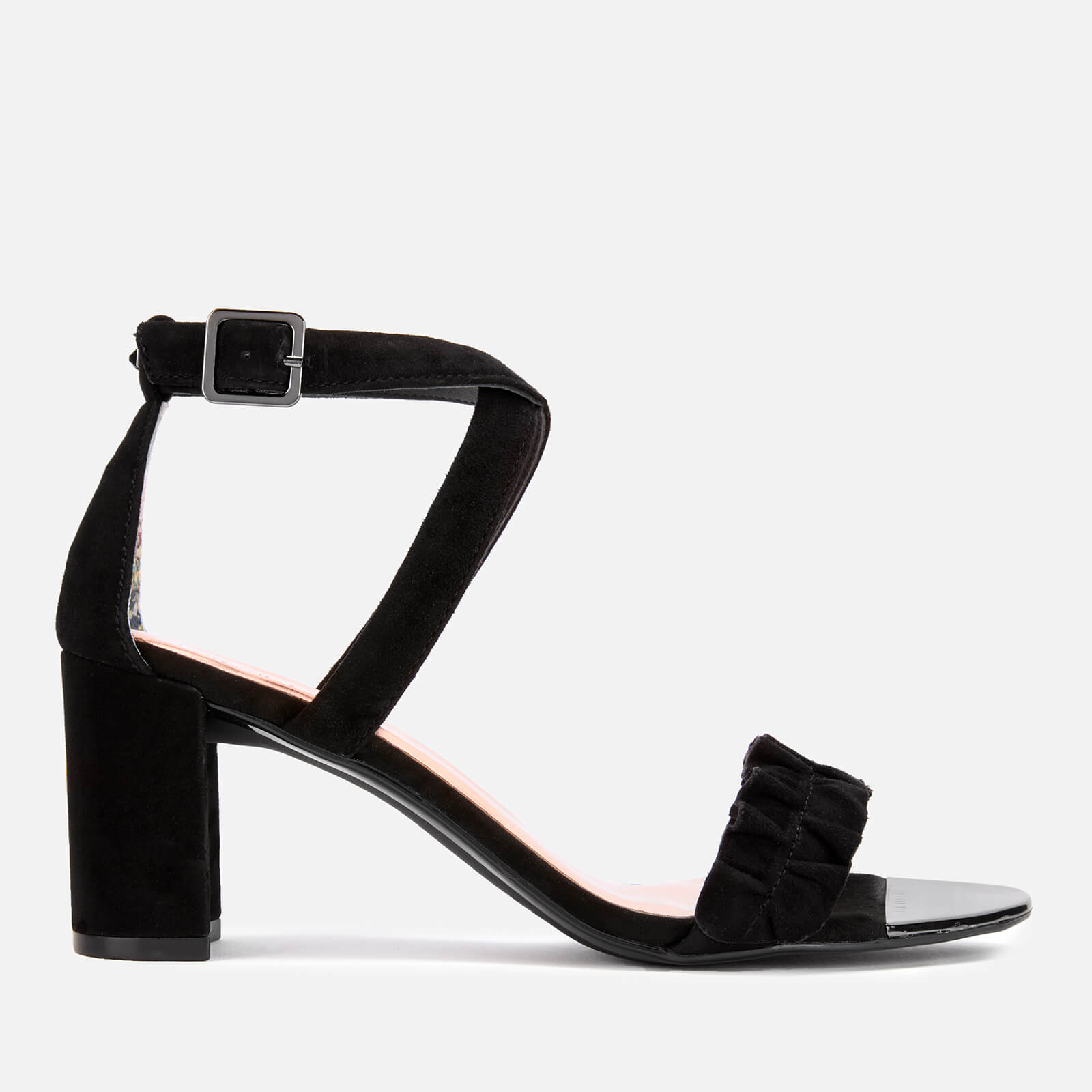 Ted Baker Women's Floxen Suede Block Heeled Sandals - Black - UK 4 - Black