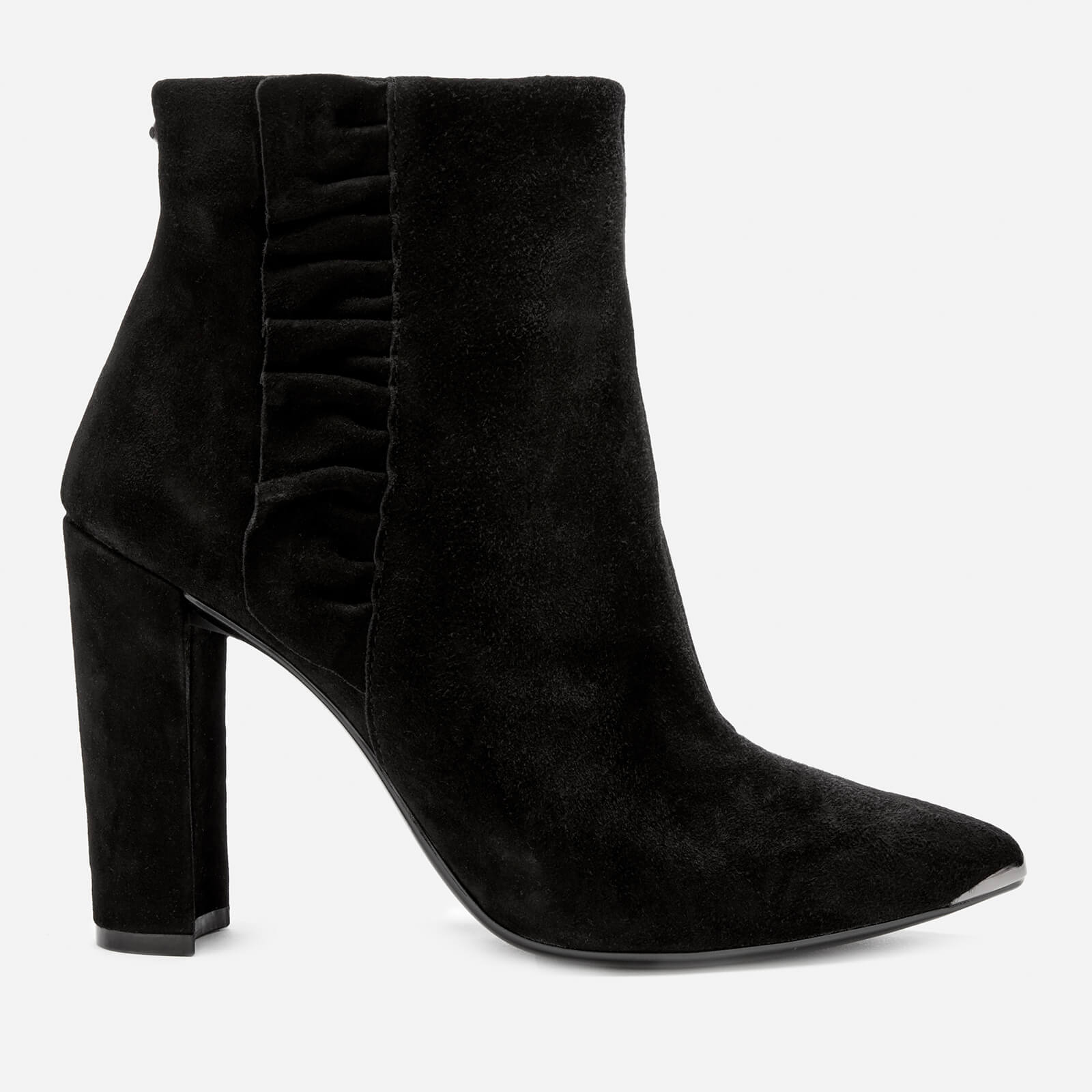 b5bc18abc Ted Baker Women's Frillis Suede Heeled Ankle Boots - Black | FREE UK  Delivery | Allsole