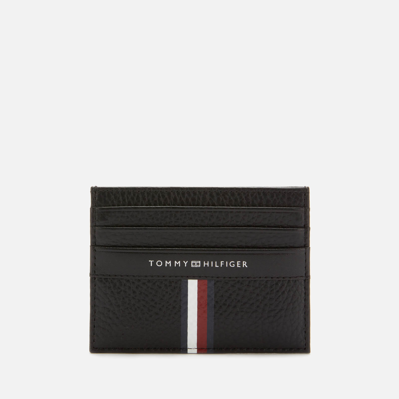 buy popular 91891 a4b31 Tommy Hilfiger Men's Corporate Leather Mini Credit Card Holder - Black