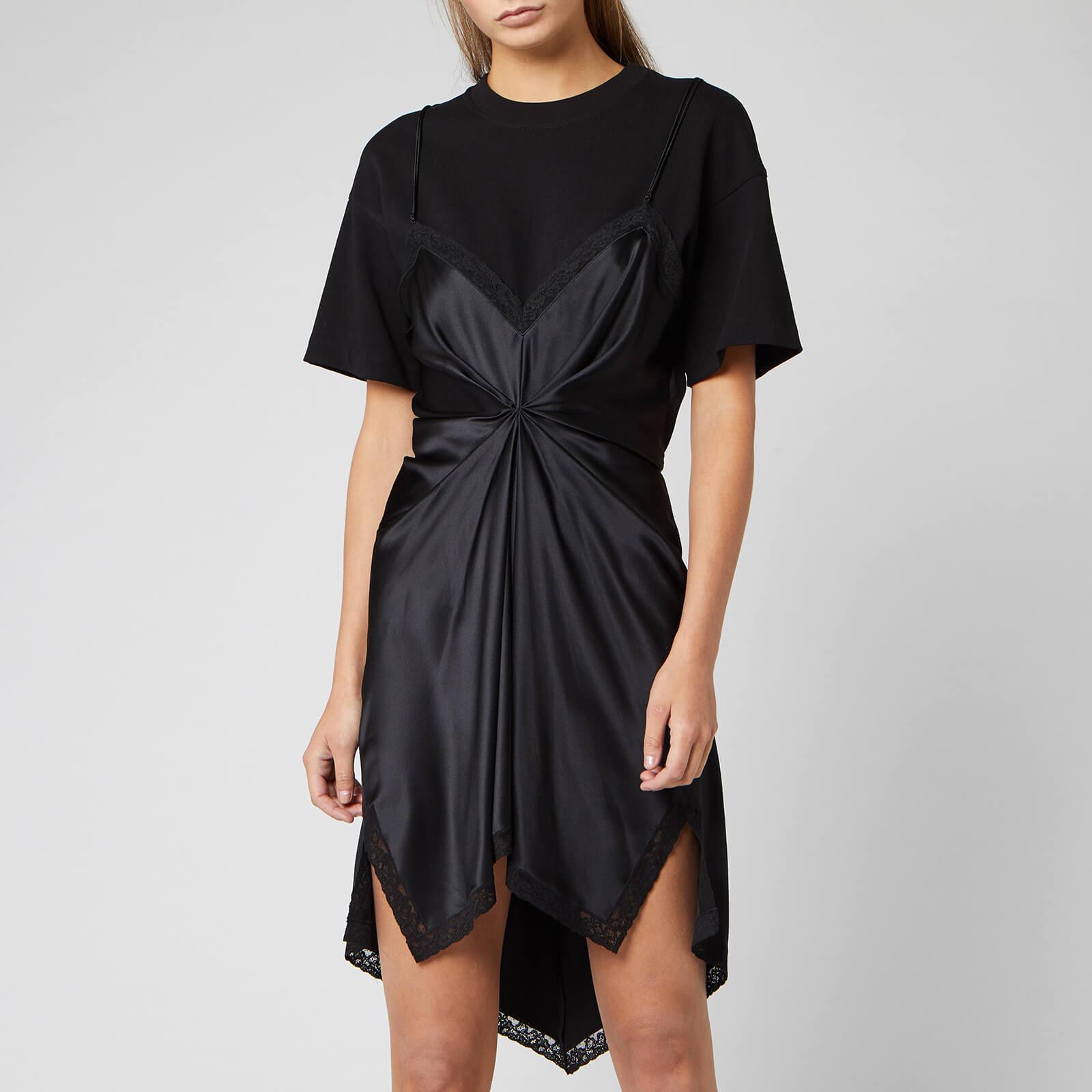 Alexander Wang Women's Cinched T Shirt Slip Dress Black
