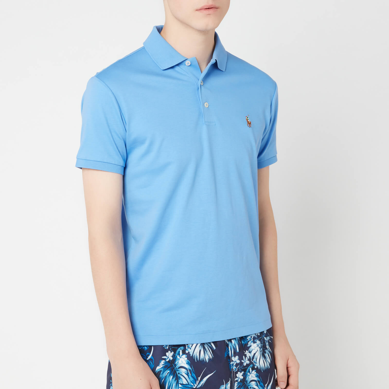 Ralph Lauren Island Blue Harbor Touch Shirt Soft Men's Polo Pima EWID9HY2