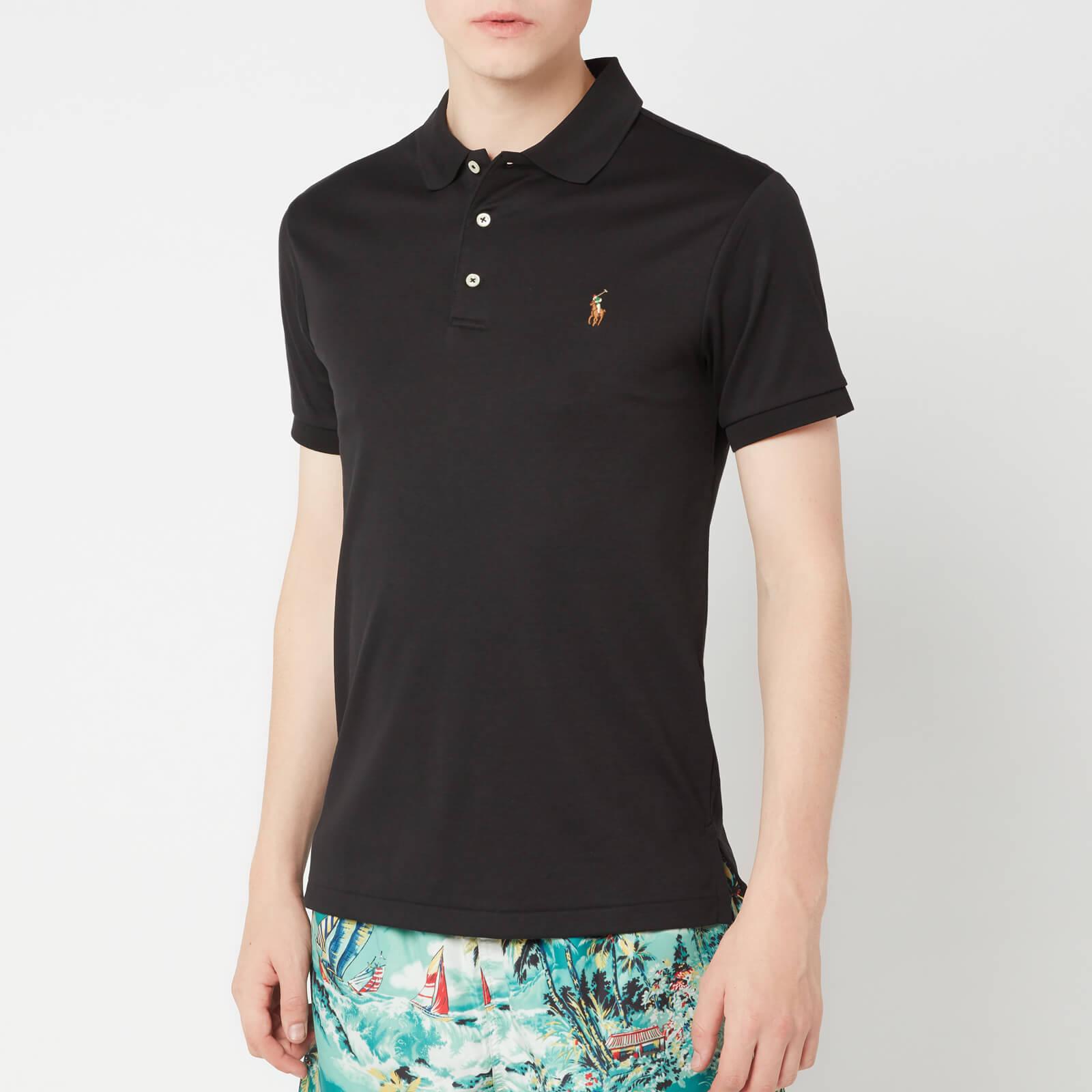 Polo Lauren Touch Men's Pima Shirt Black Soft Ralph MVULSGqzp