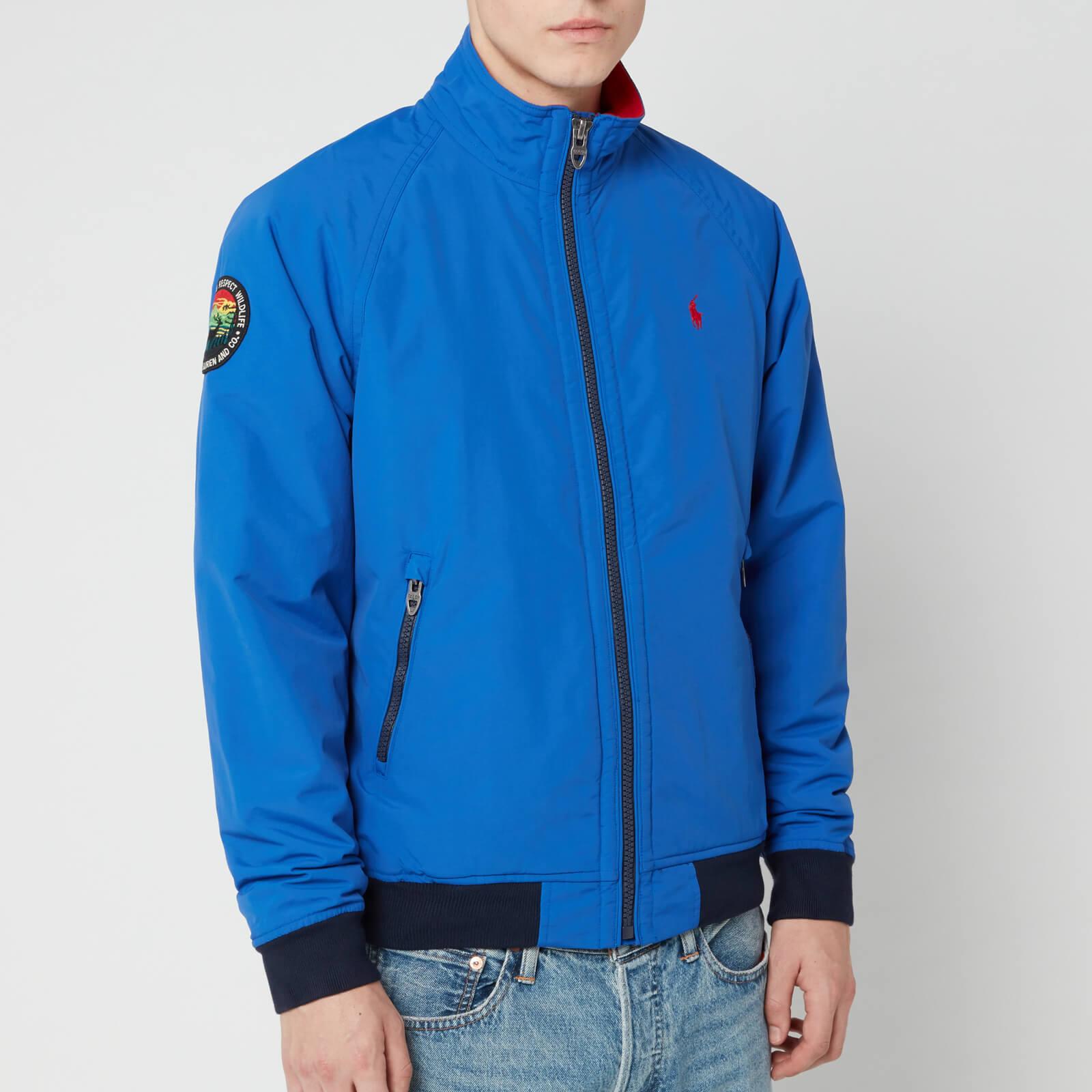 Lauren Ralph Saturn Portage Polo Bomber Men's Jacket Blue c34L5AjRqS