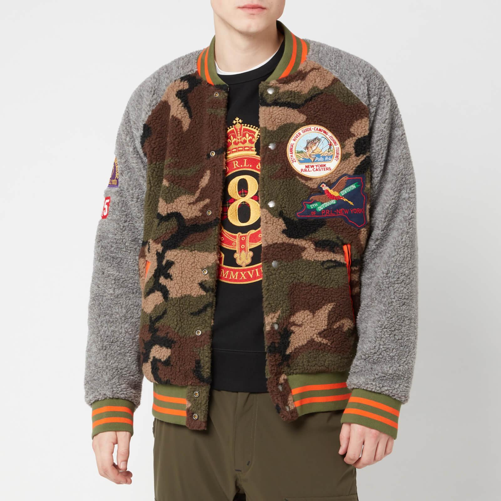 Ralph Vintage Bomber Heather Lauren Sherpa Fleece Camodark Men's Jacket Polo TFJ31ulcK