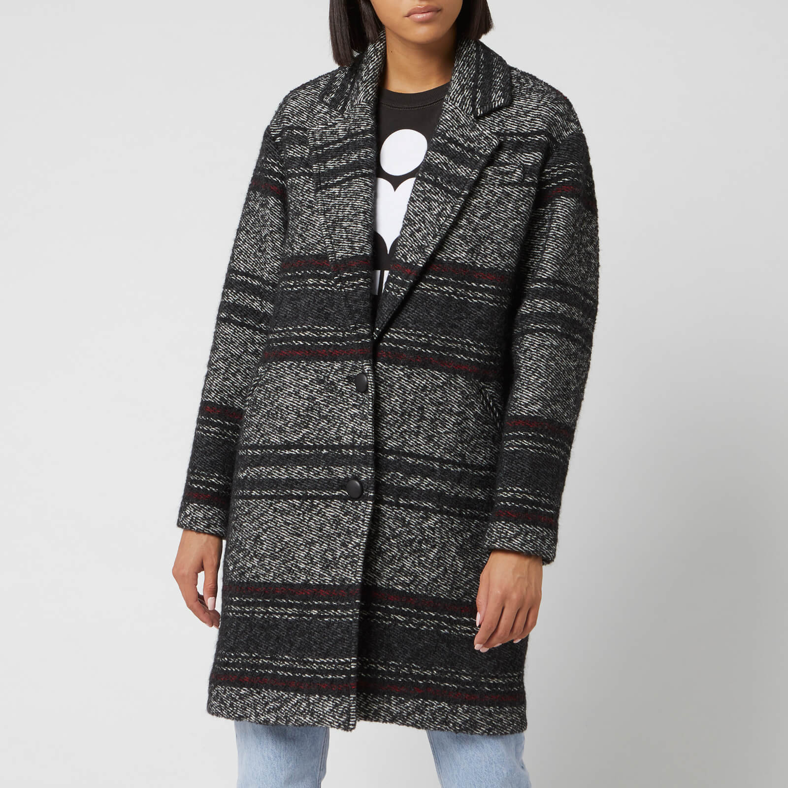 Isabel Marant Étoile Women's Dante Coat - Faded Black - FR 34/UK 6 - Black