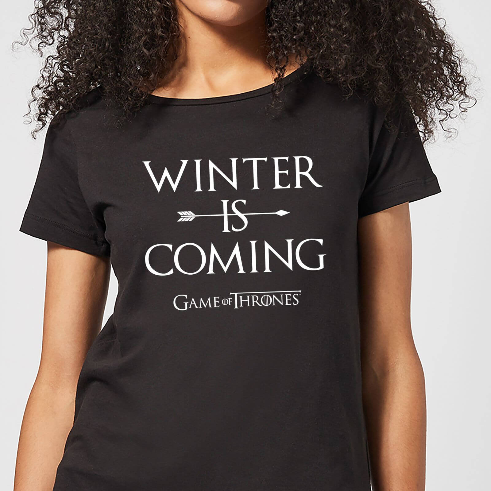 8d62403b Game of Thrones Winter Is Coming Women's T-Shirt - Black Clothing | Zavvi
