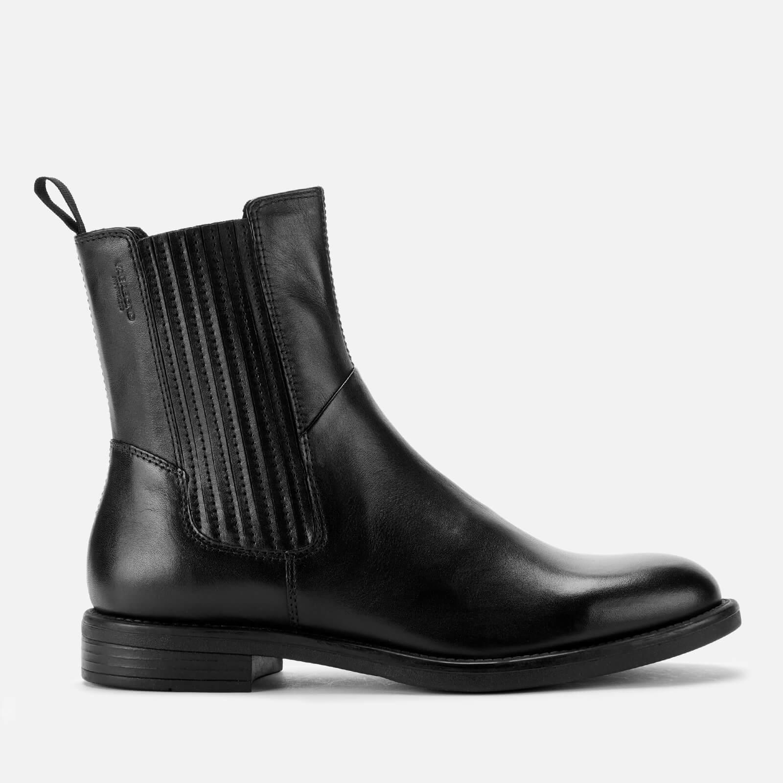Amina Leather Chelsea Boots - Black