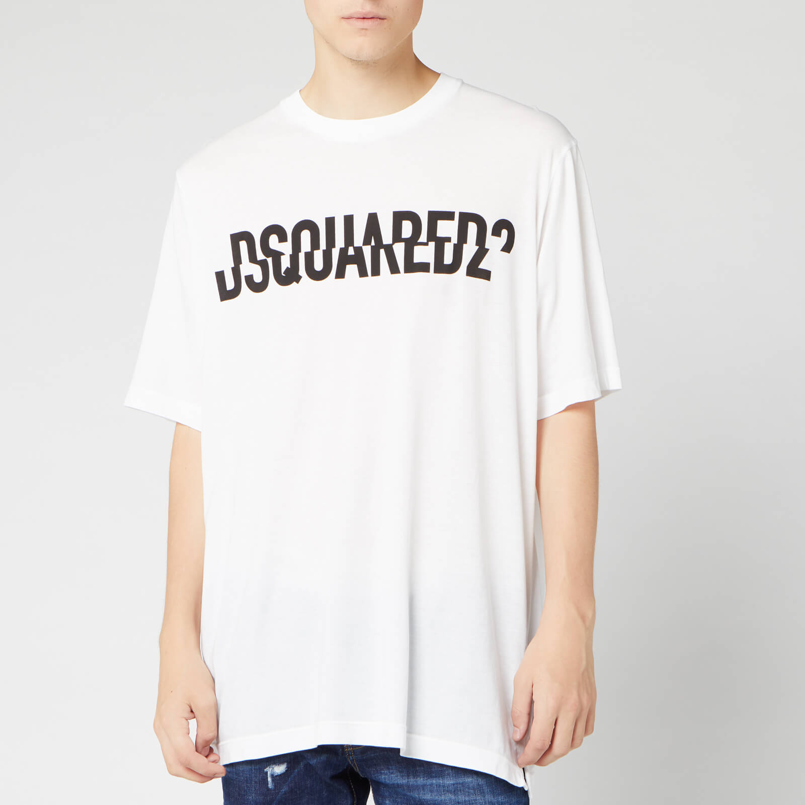 2e00c6deb Dsquared2 Men's Dsquared2 Slouch Fit T-Shirt - White