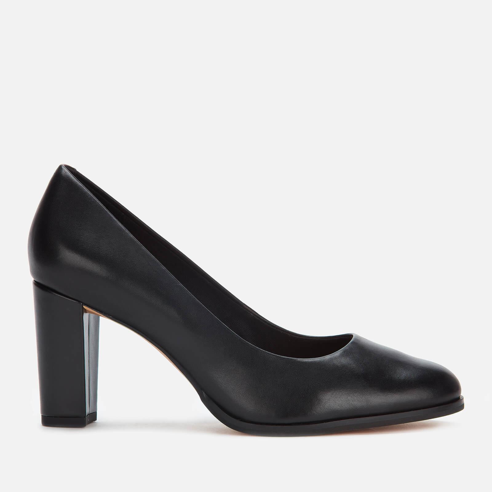 Kaylin Cara Leather Court Shoes - Black