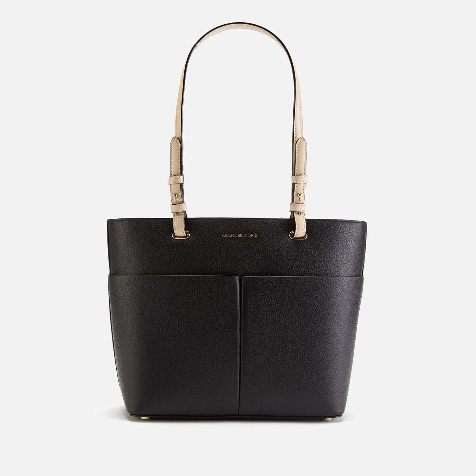 Michael Kors Women S Bedford Medium Top Zip Pocket Tote Bag Black