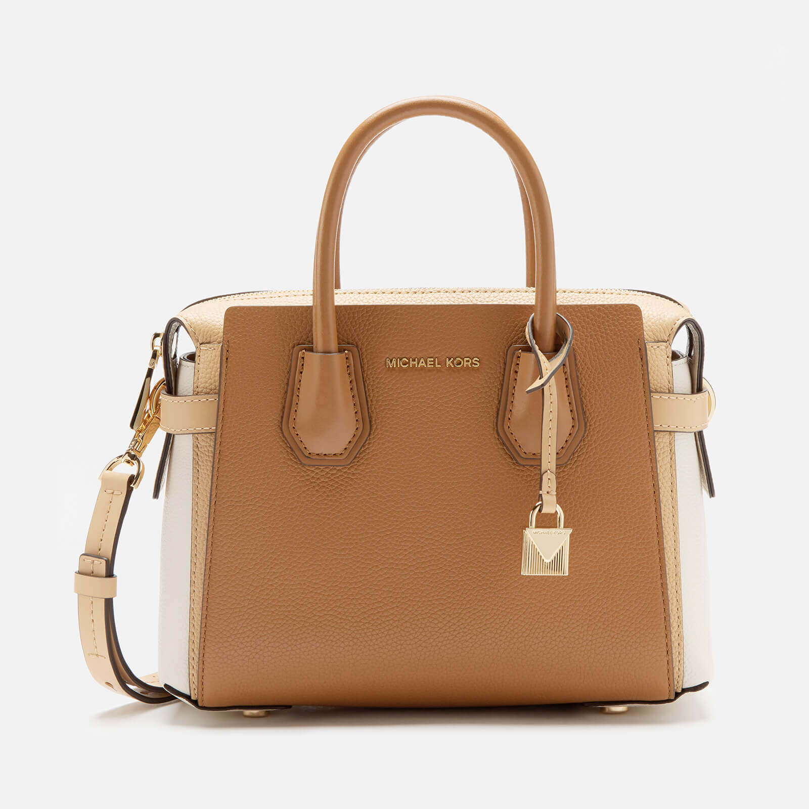 f5be366e2 MICHAEL MICHAEL KORS Women's Mercer Belted Small Satchel Bag - Btrn/Ltc/Acr  - Free UK Delivery over £50