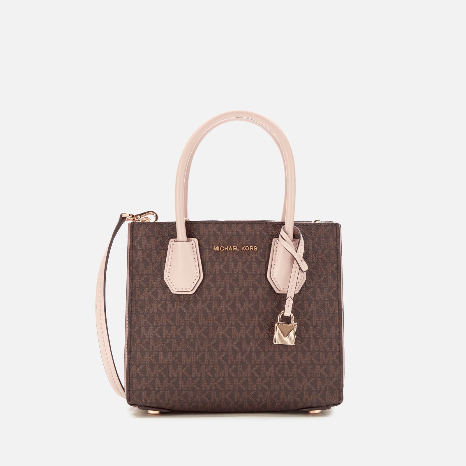 3ee773efb MICHAEL MICHAEL KORS Women's Mercer Medium Acordian Messenger Bag -  Brown/Soft Pink