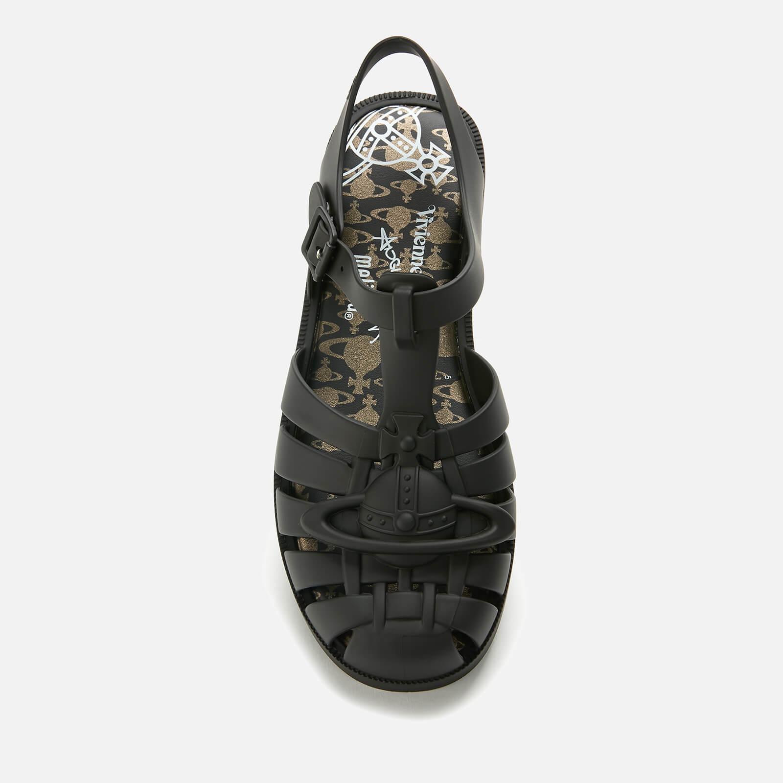 Vivienne Westwood for Melissa Women's Possession Flat Sandals - Black Matt Orb