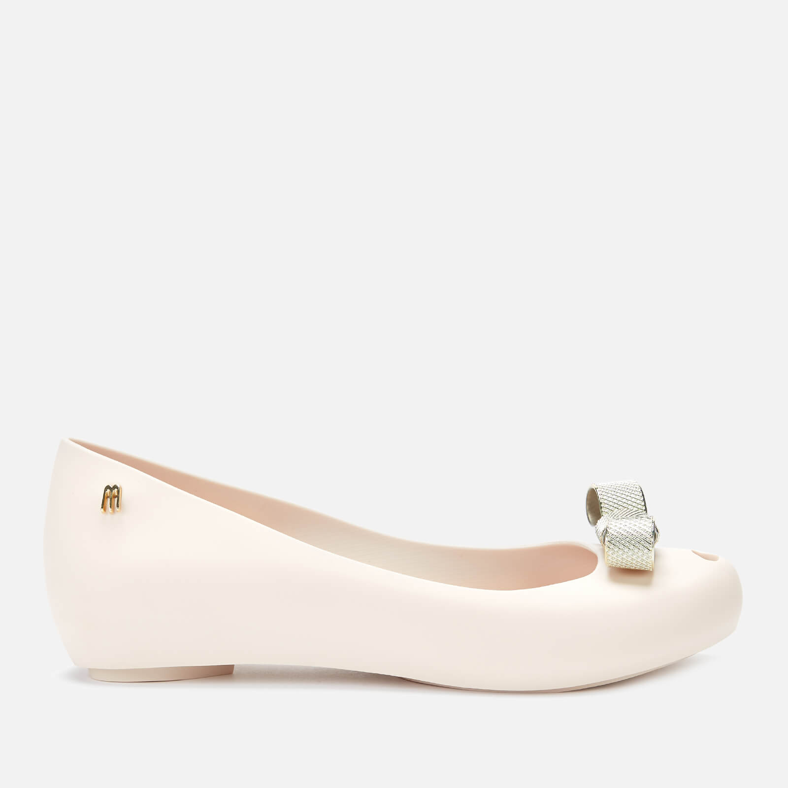 Melissa Women's Ultragirl Chrome Tie Ballet Flats - Ivory - UK 4 - White
