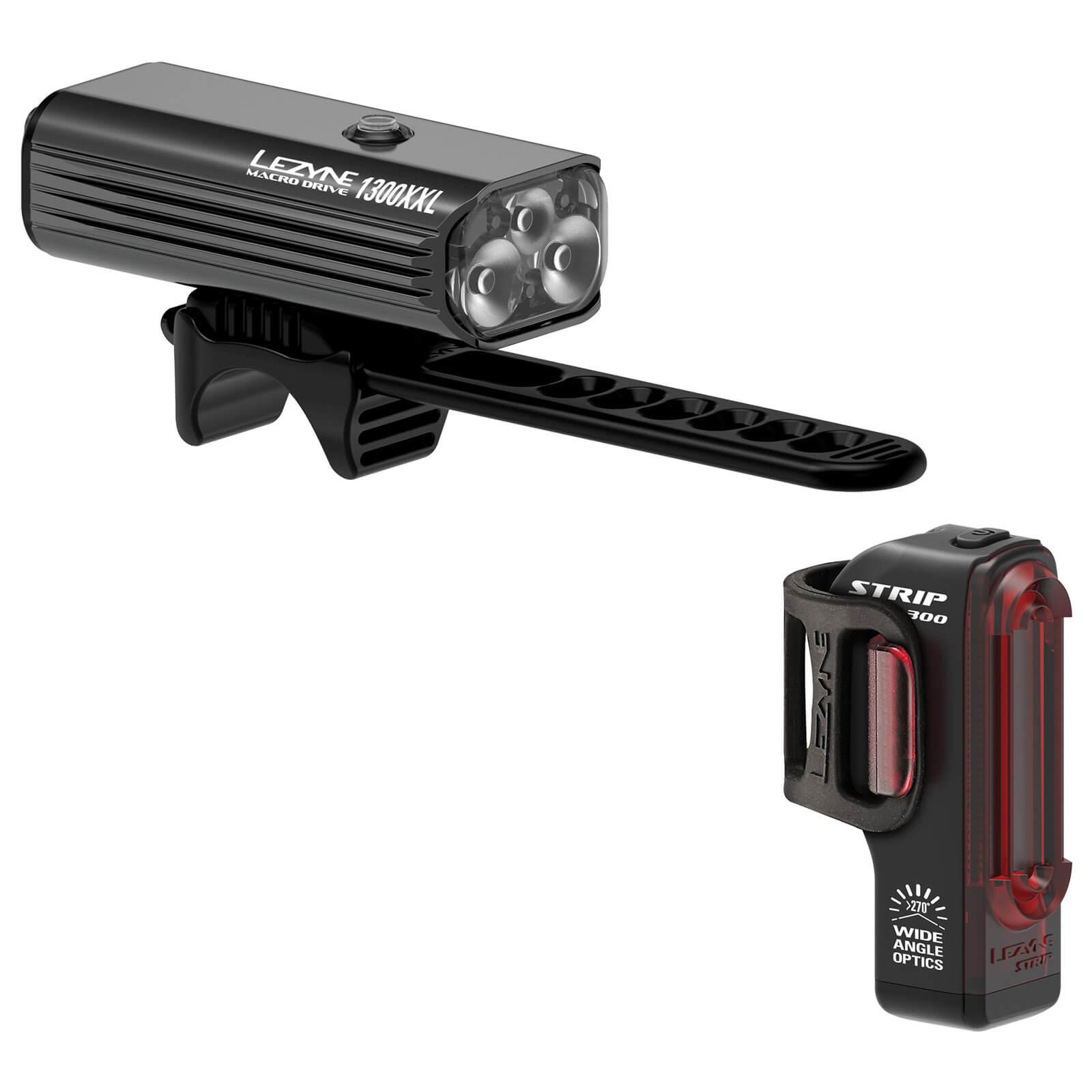 Lezyne Macro Drive 1300XL Black Strip Pro Light Set
