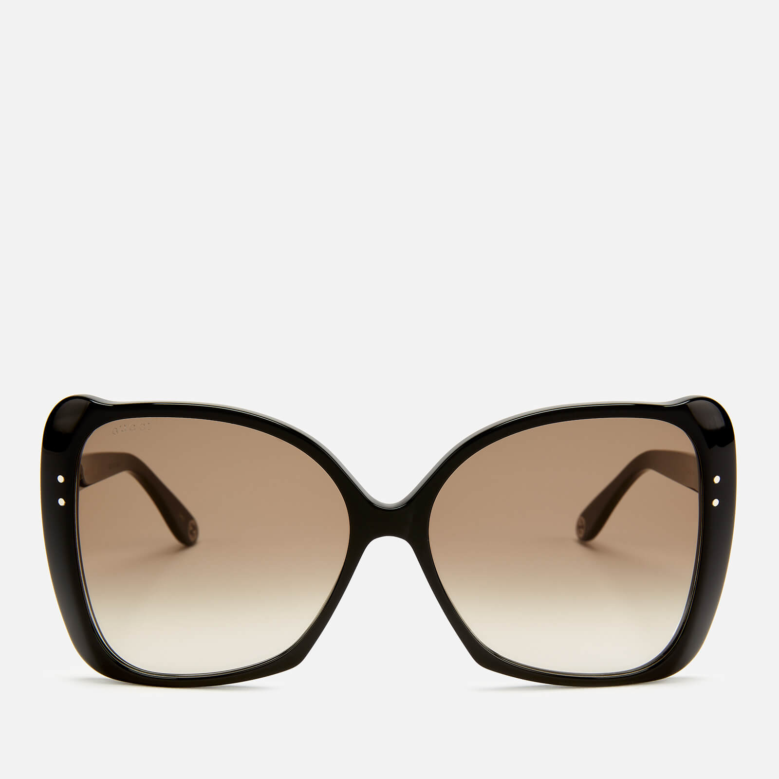 8e3e0dc615b9 Gucci Women's Butterfly Acetate Sunglasses - Black/Brown - Free UK Delivery  over £50