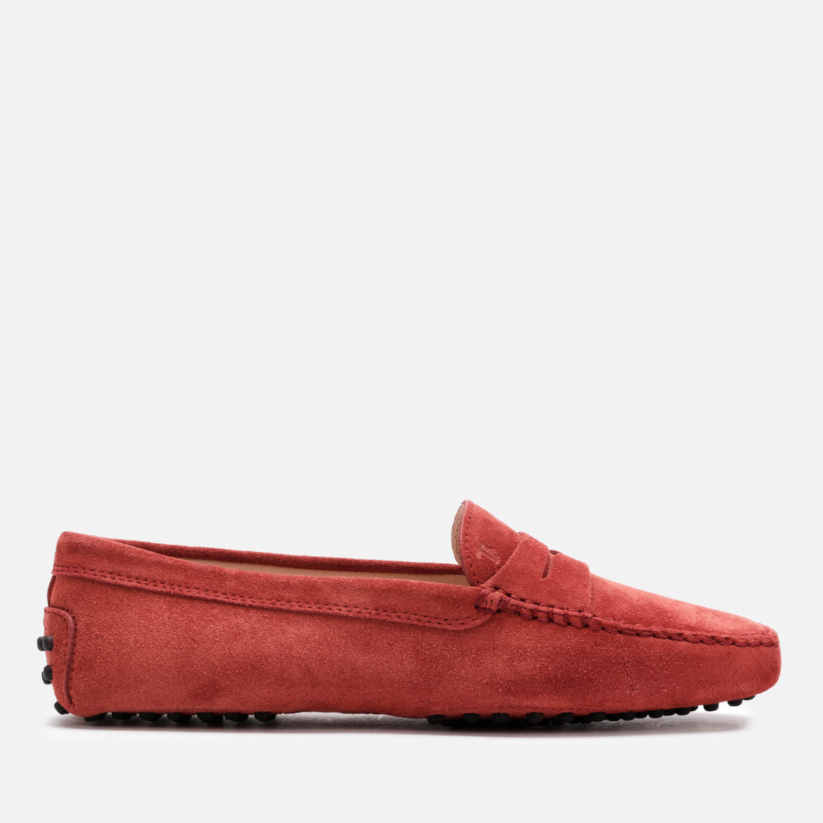 e810ad561a988 Tod's Women's Suede Gommini Loafers - Red - Free UK Delivery over £50