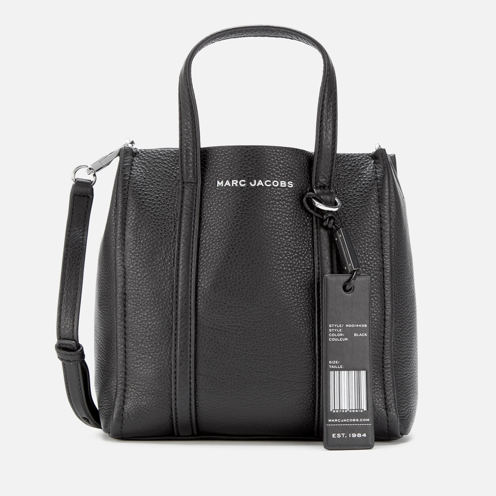 BLACK AND WHITE THE TAG 21 TOTE BAG
