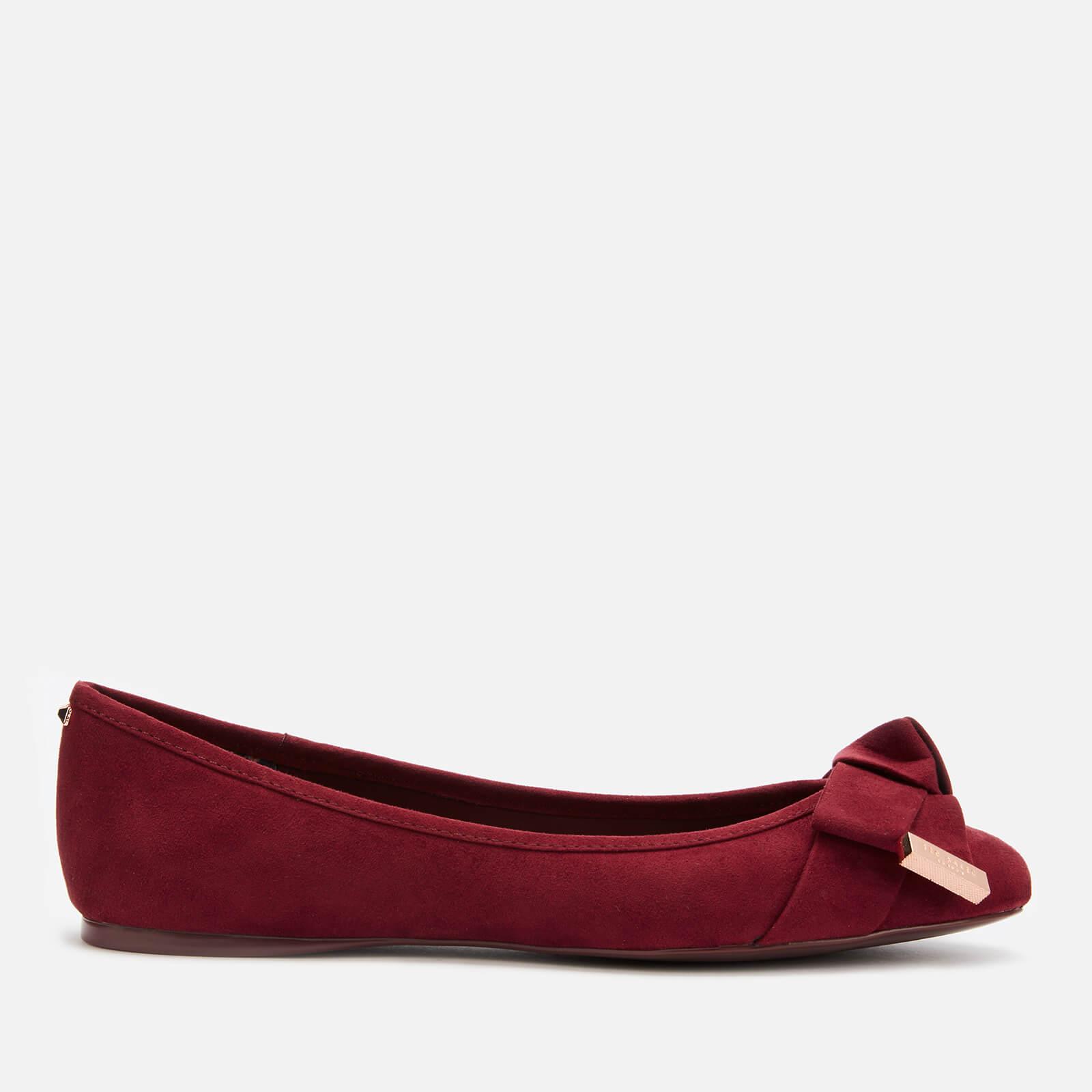 Ted Baker Women's Antheia Ballet Flats - Oxblood - UK 4 - Red