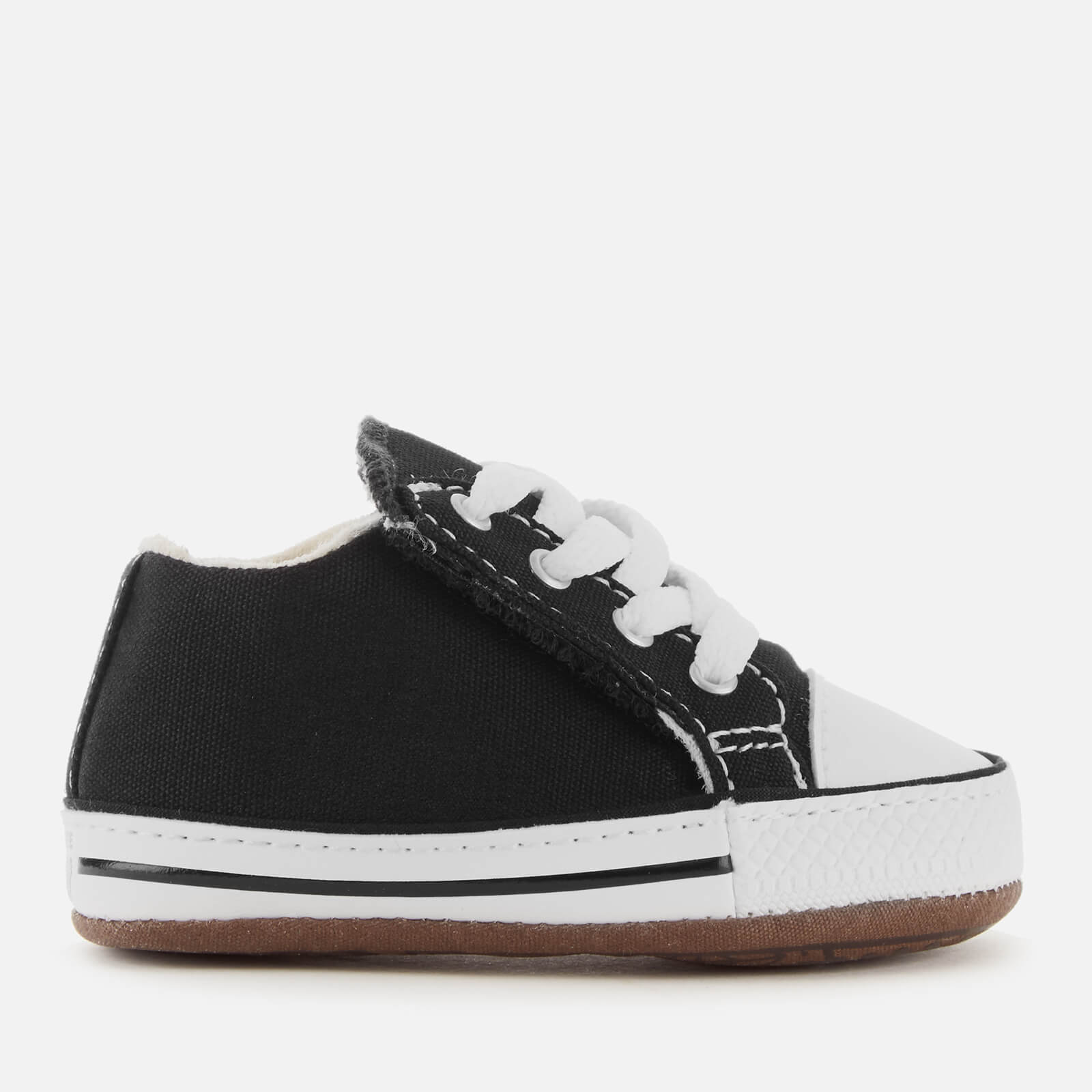 Converse Babies Chuck Taylor All Star Cribster Canvas Mid Trainers BlackNatural IvoryWhite