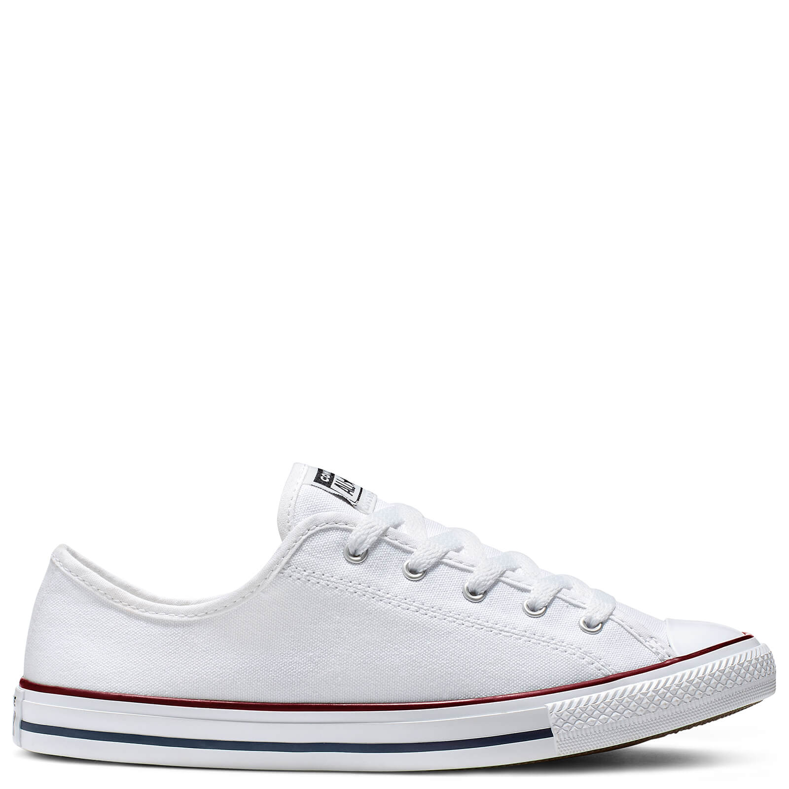 Converse Women's Chuck Taylor All Star Dainty Basic Canvas Ox Trainers WhiteRedBlue