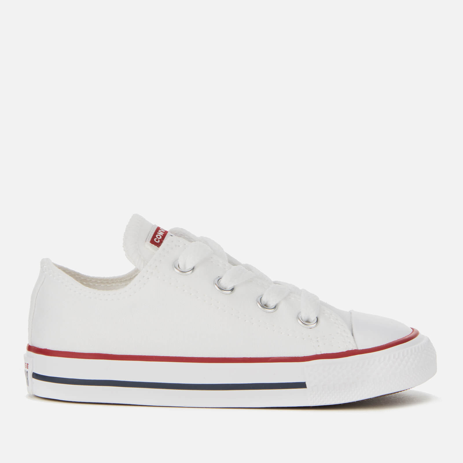 Converse Toddlers' Chuck Taylor All Star Ox Trainers WhiteGarnetNavy