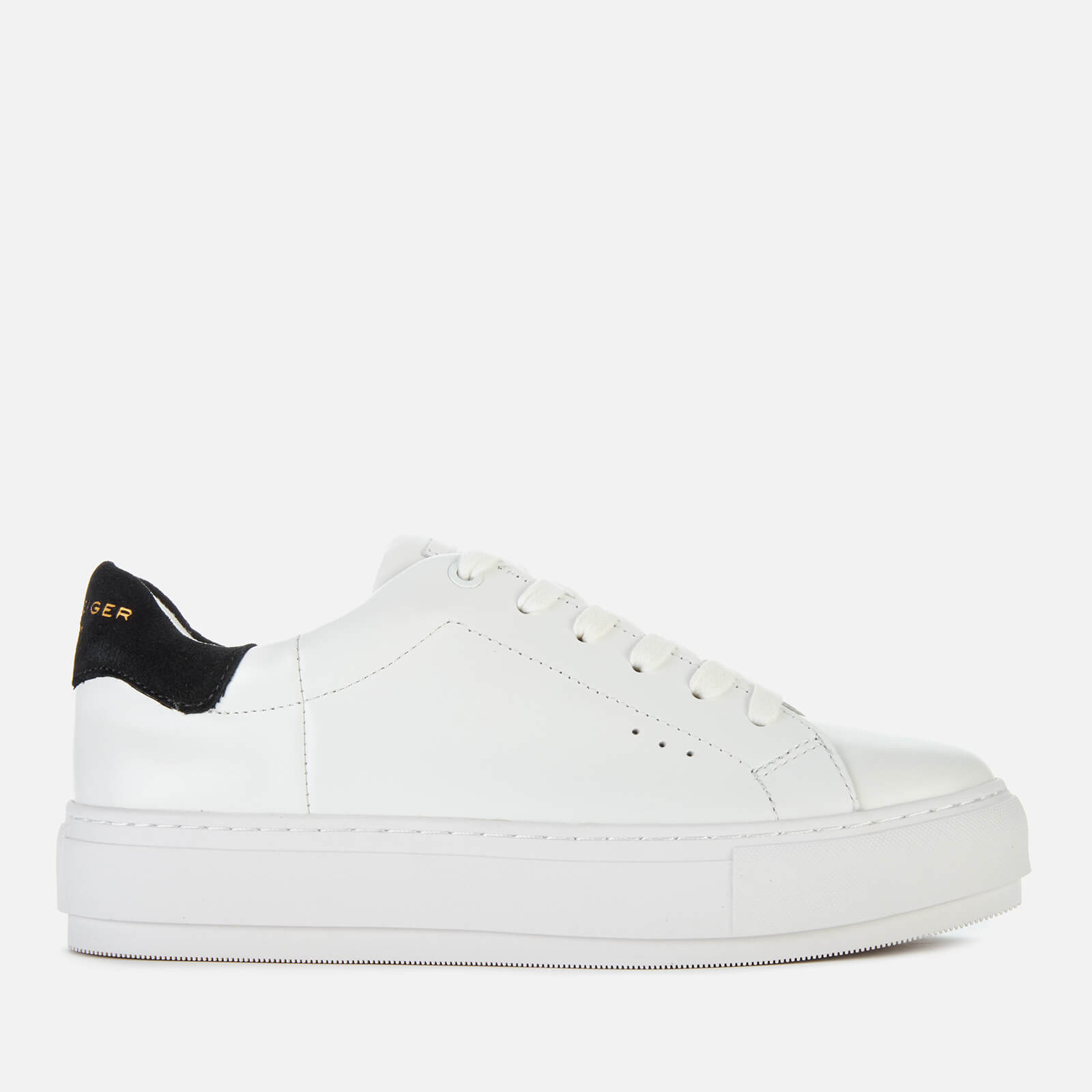 Laney Leather Flatform Trainers - White