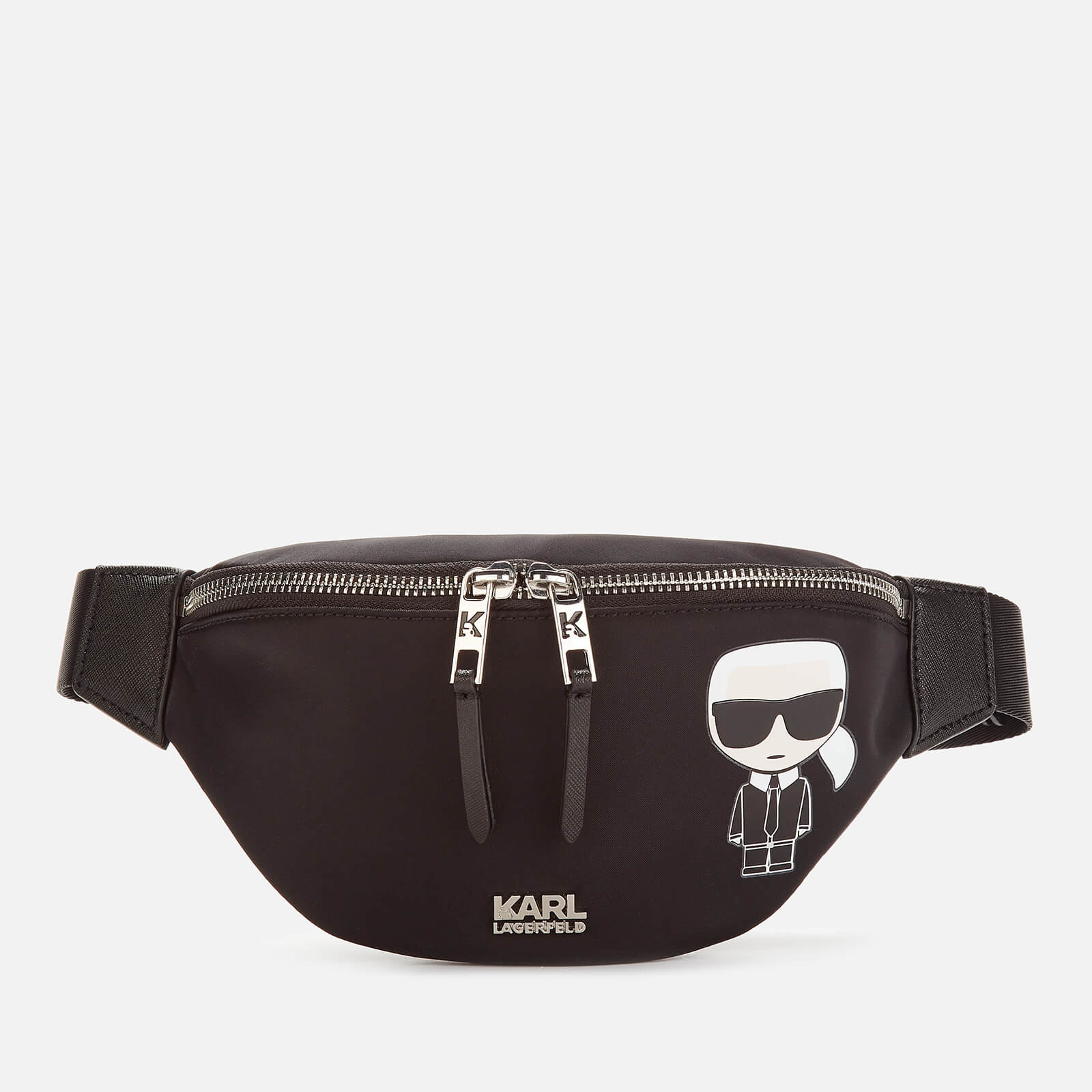 Karl Lagerfeld Women S K Ikonik Nylon Bag Black