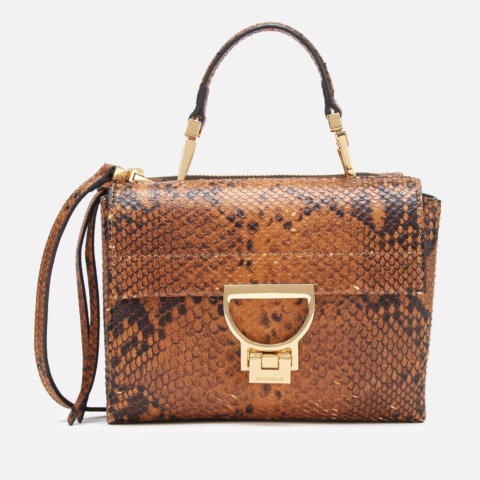 neue Version kostengünstig große Vielfalt Modelle Coccinelle Women's Arlettis Python Bag - Caramel