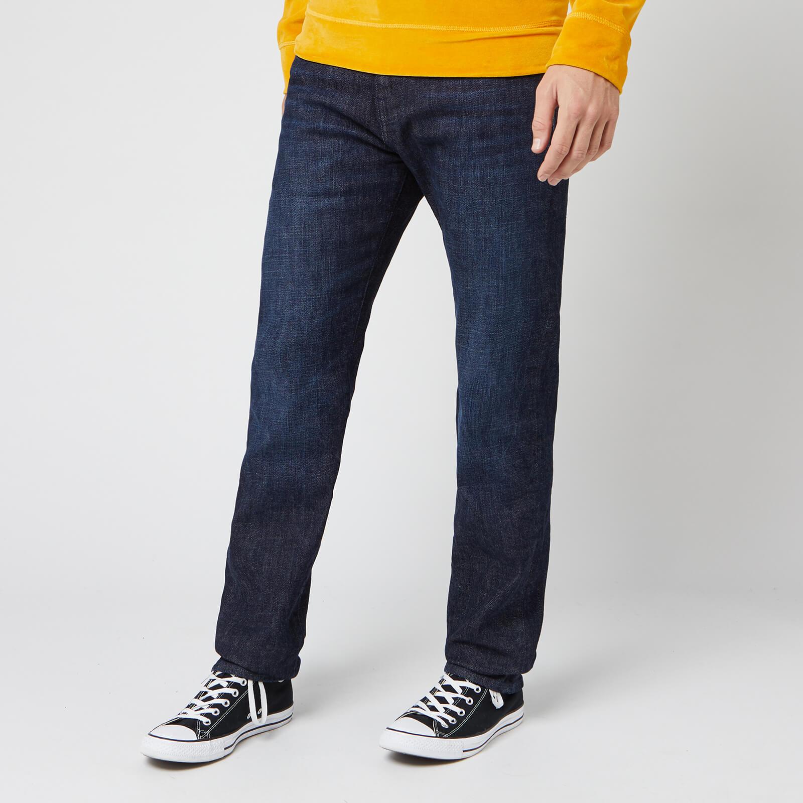 Edwin Men S Ed 80 Slim Tapered Yuuki Blue Denim Jeans Taiki Wash