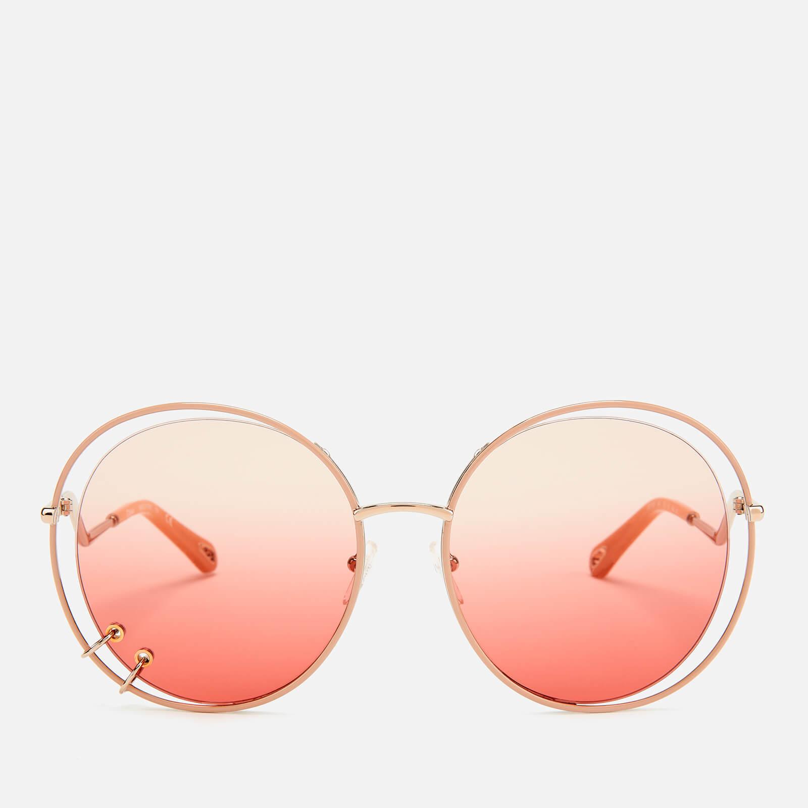 d70854b0c1b5 Chloe Women's Wendy Round Frame Sunglasses - Rose Gold ...