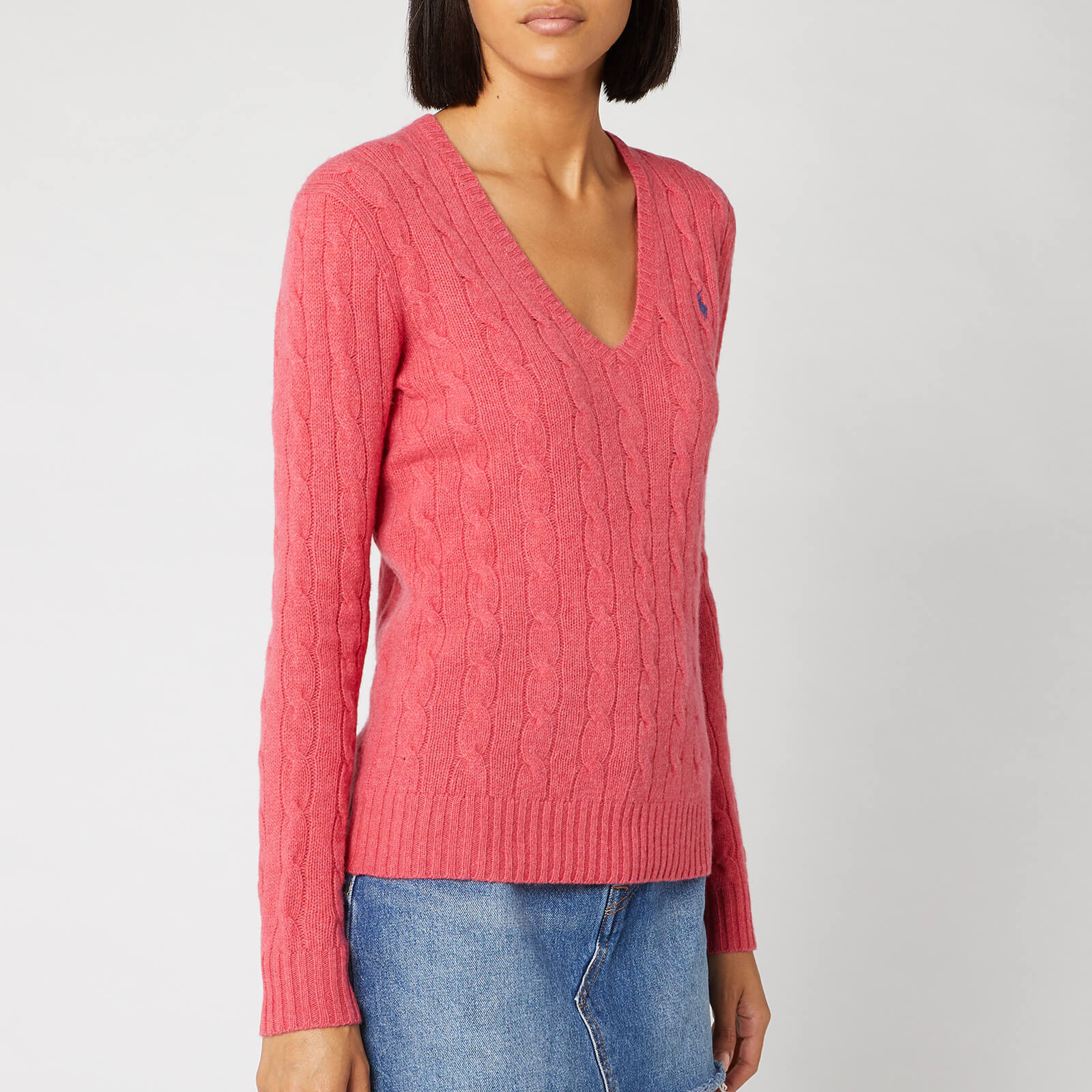 d7311377baab27 Polo Ralph Lauren Women's Kimberly Classic Long Sleeve Jumper - Geranium  Heather - Free UK Delivery over £50