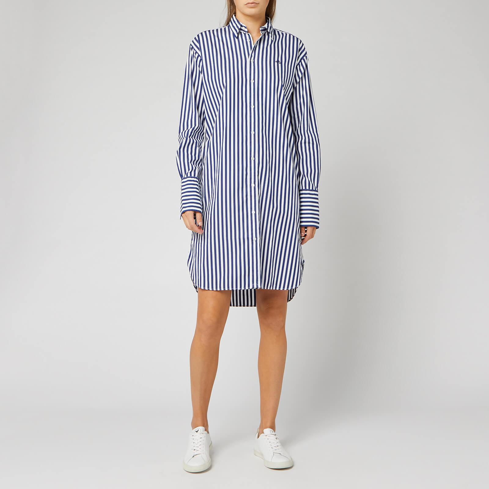 Sleeve Whitefall Navy Lauren Long Royal 204a Casual Polo Dress Ralph Women's S35LAq4cRj