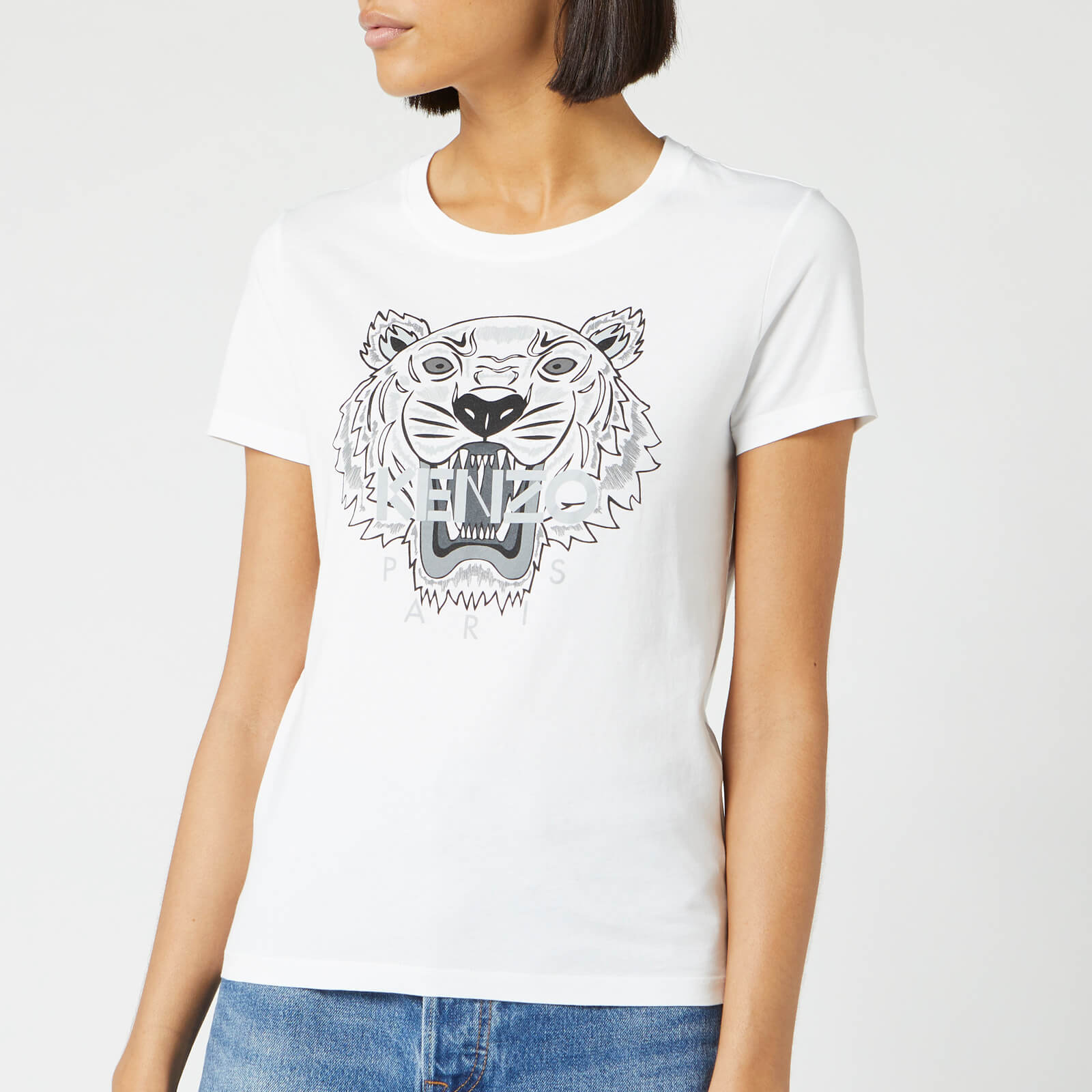 a8f86b433c1d KENZO Women's Tiger Classic T-Shirt - White - Free UK Delivery over £50