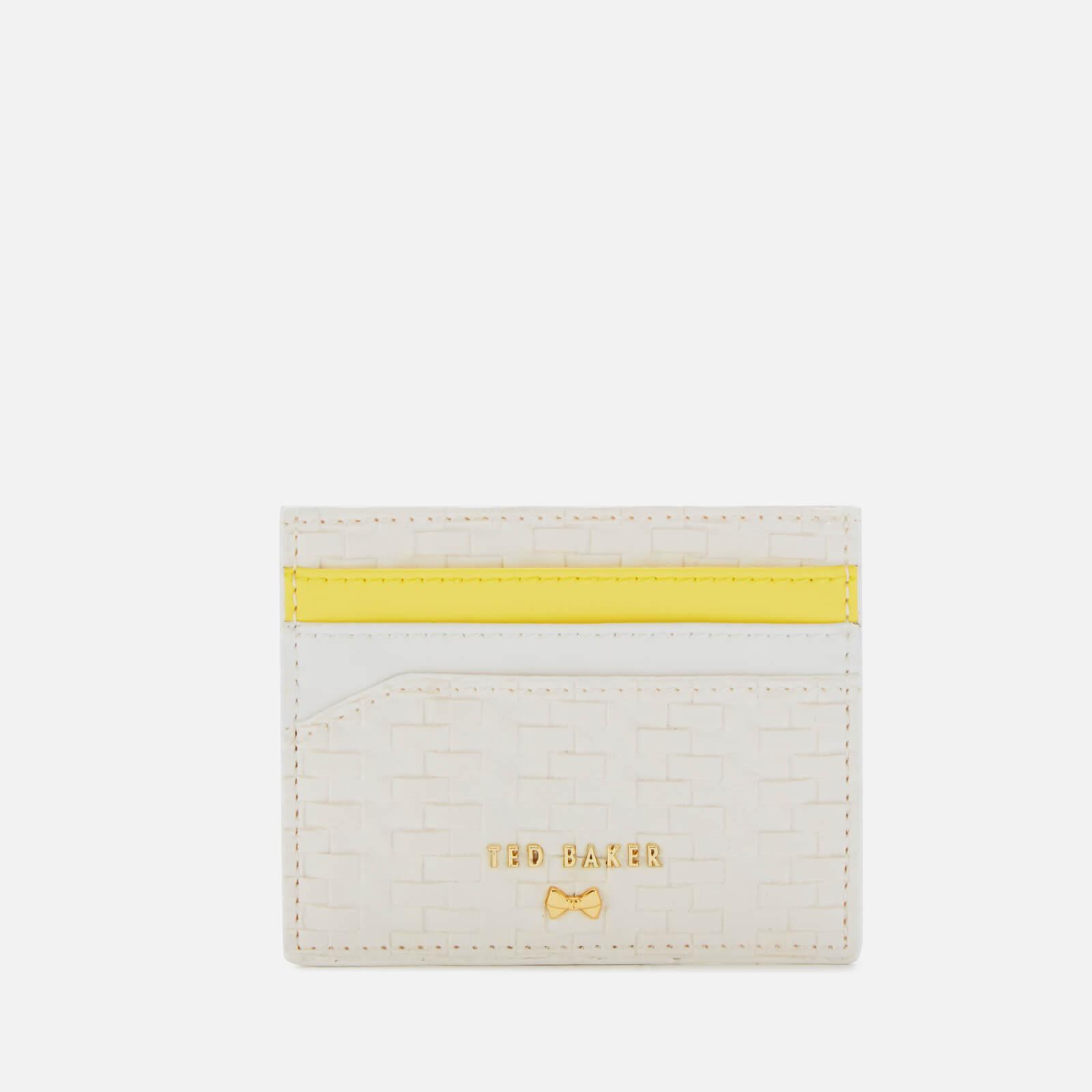 best service 1d2c7 0387f Ted Baker Women's Mabes Raffia Card Holder - White