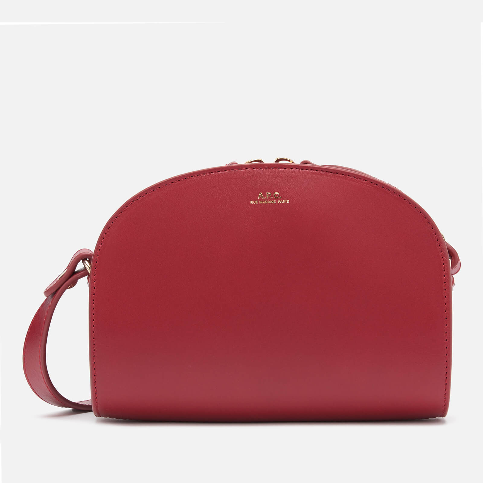 A.P.C. Women's Mini Demi-Lune Cross Body Bag - Red