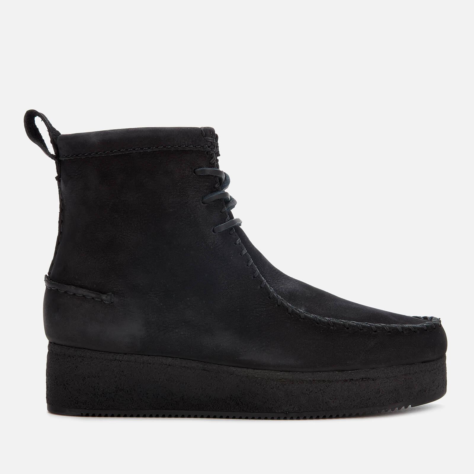 Wallabee Craft Nubuck Boots - Black