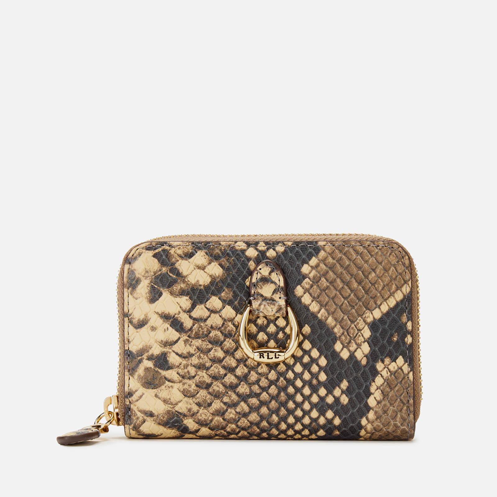 100% echt Repliken fantastische Einsparungen Lauren Ralph Lauren Women's Small Snake Print Zip Wallet - Oatmeal Multi