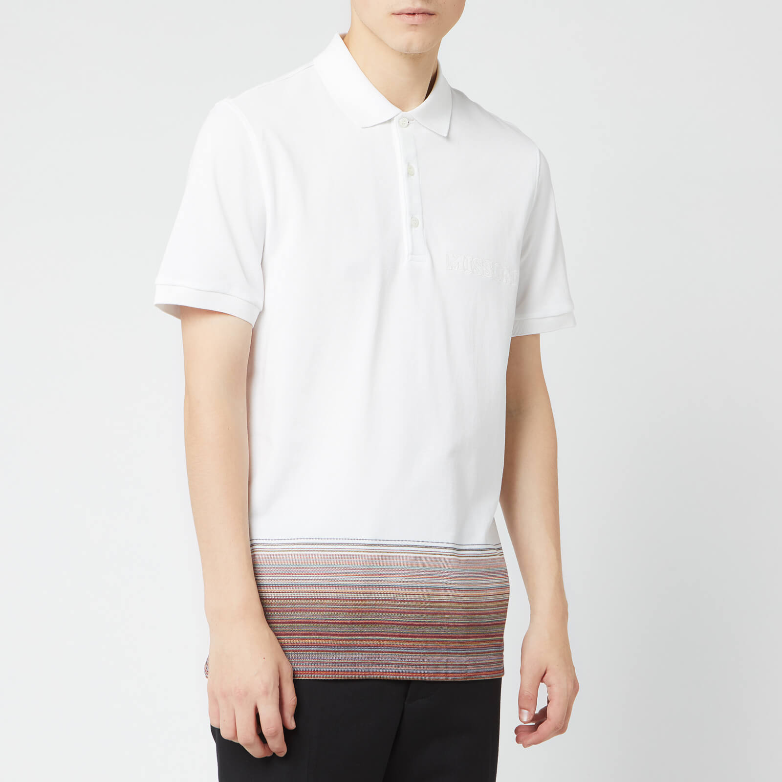 7a419849342c8 Missoni Men's Short Sleeve Polo Shirt - Multi - Free UK Delivery over £50