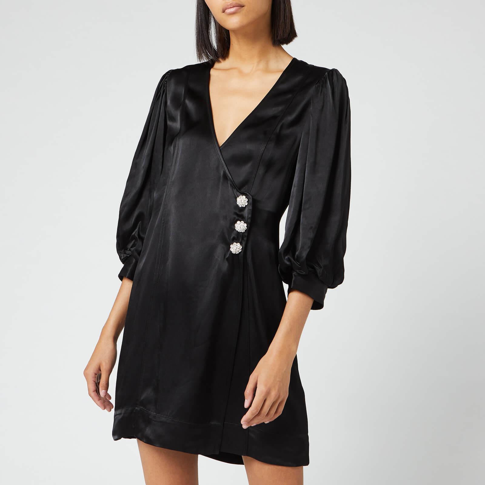delicate colors buy cheap most popular Ganni Women's Heavy Satin Dress - Black