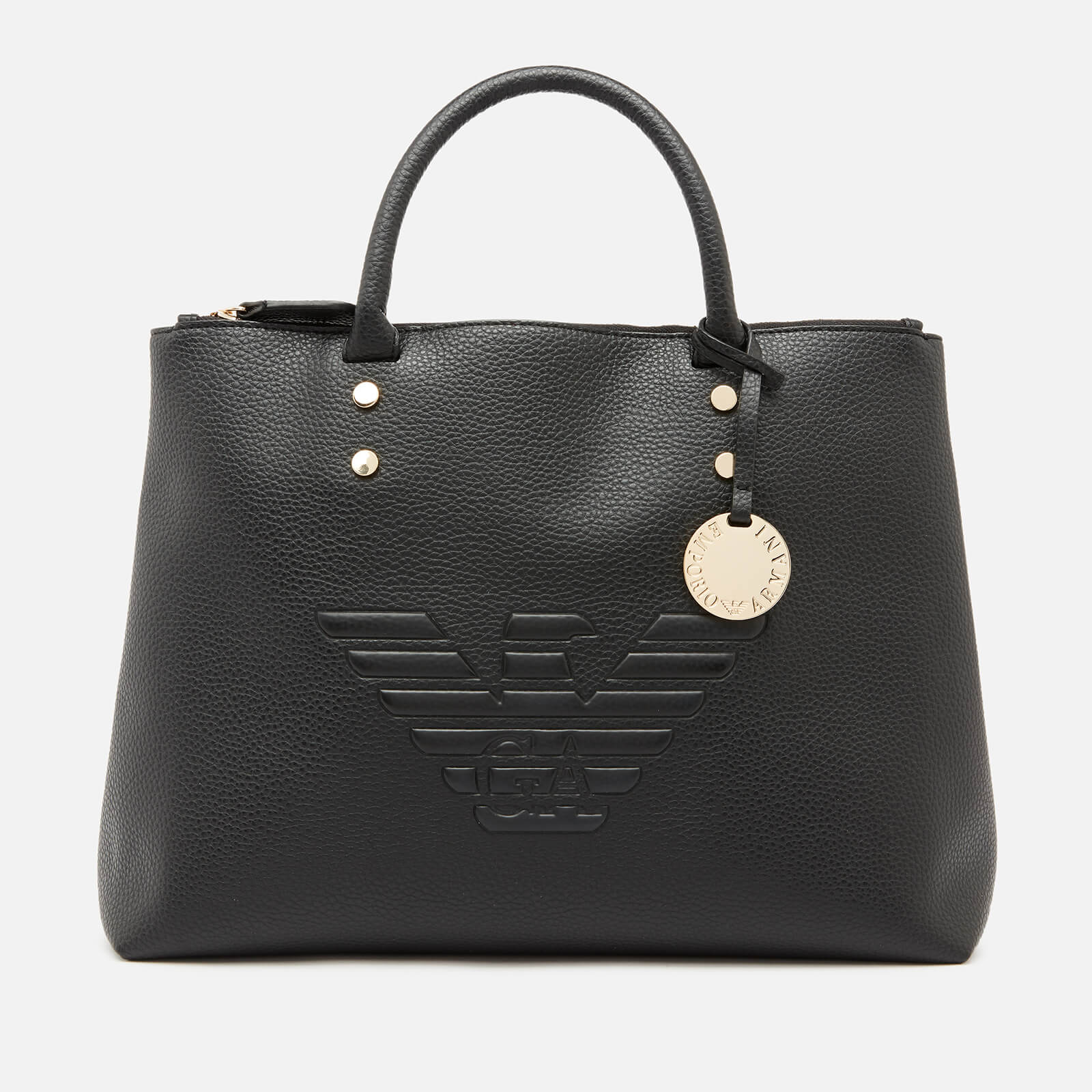 9056564350 Emporio Armani Women's Eagle Cross Body Bag - Black
