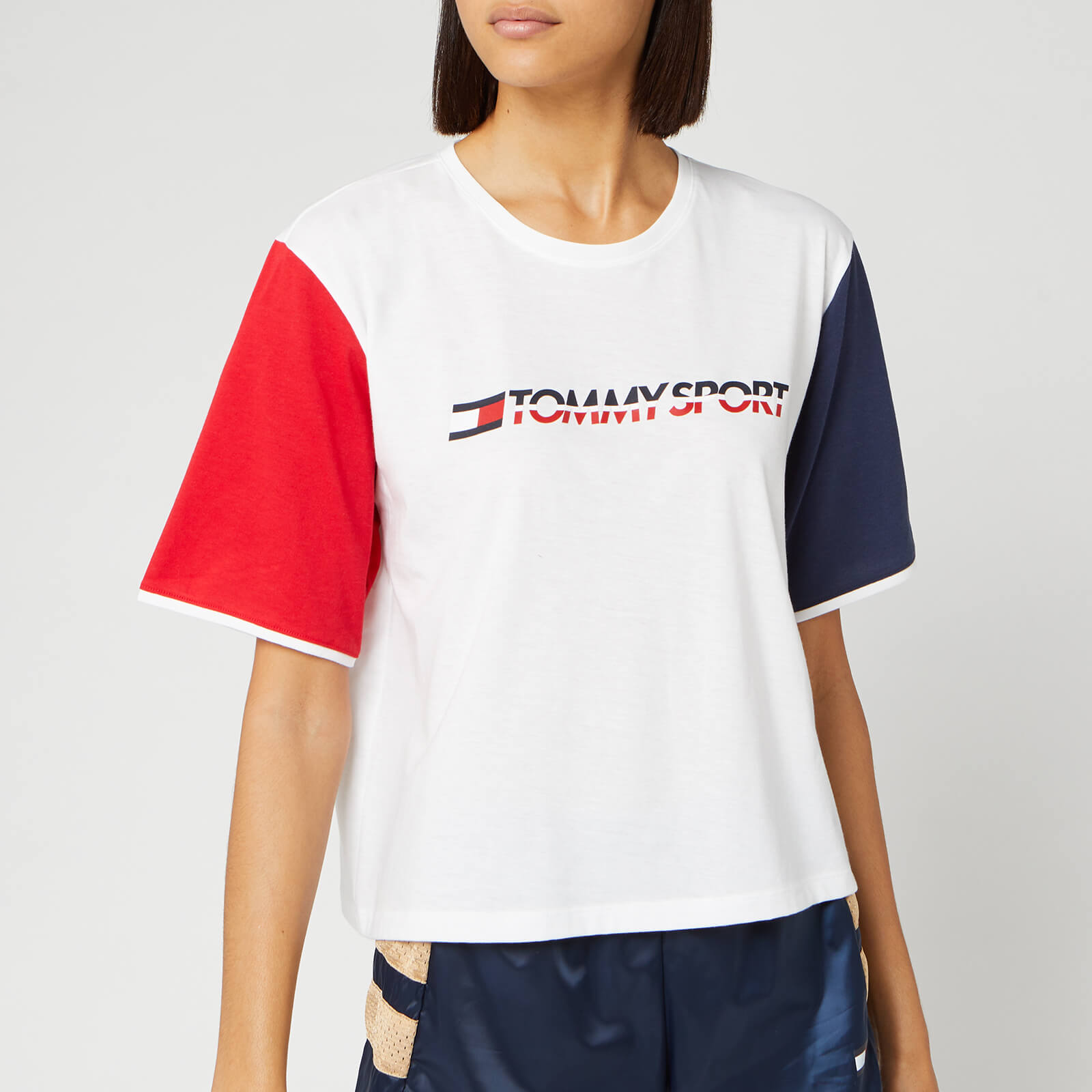 hot-selling professional shop for original top-rated real Tommy Hilfiger Sport Women's Colourblock Logo T-Shirt - PVH White
