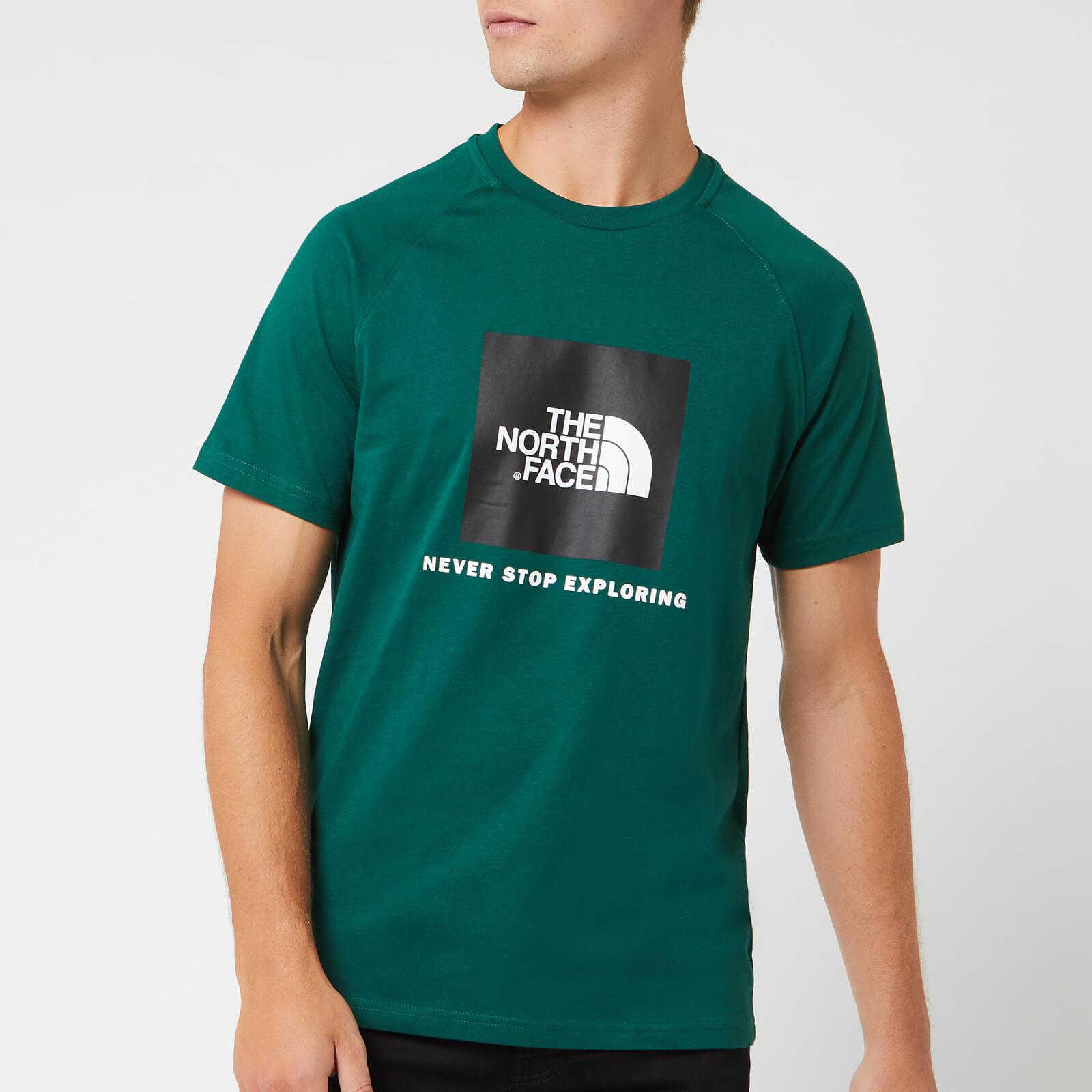 6cdf50be9 The North Face Men's Short Sleeve Raglan Redbox T-Shirt - Night Green