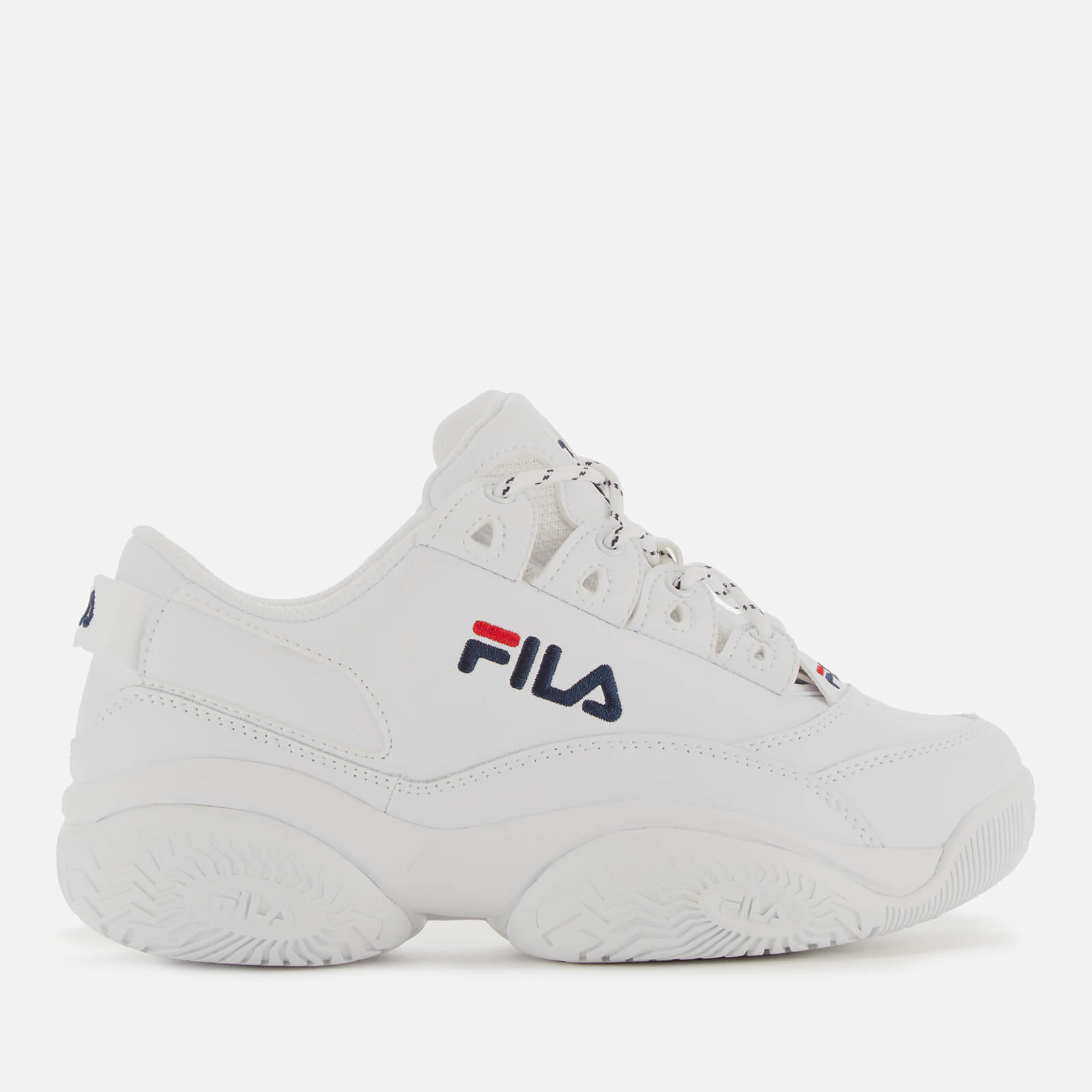 FILA Women's Provenance Trainers - White/FILA Navy/Red